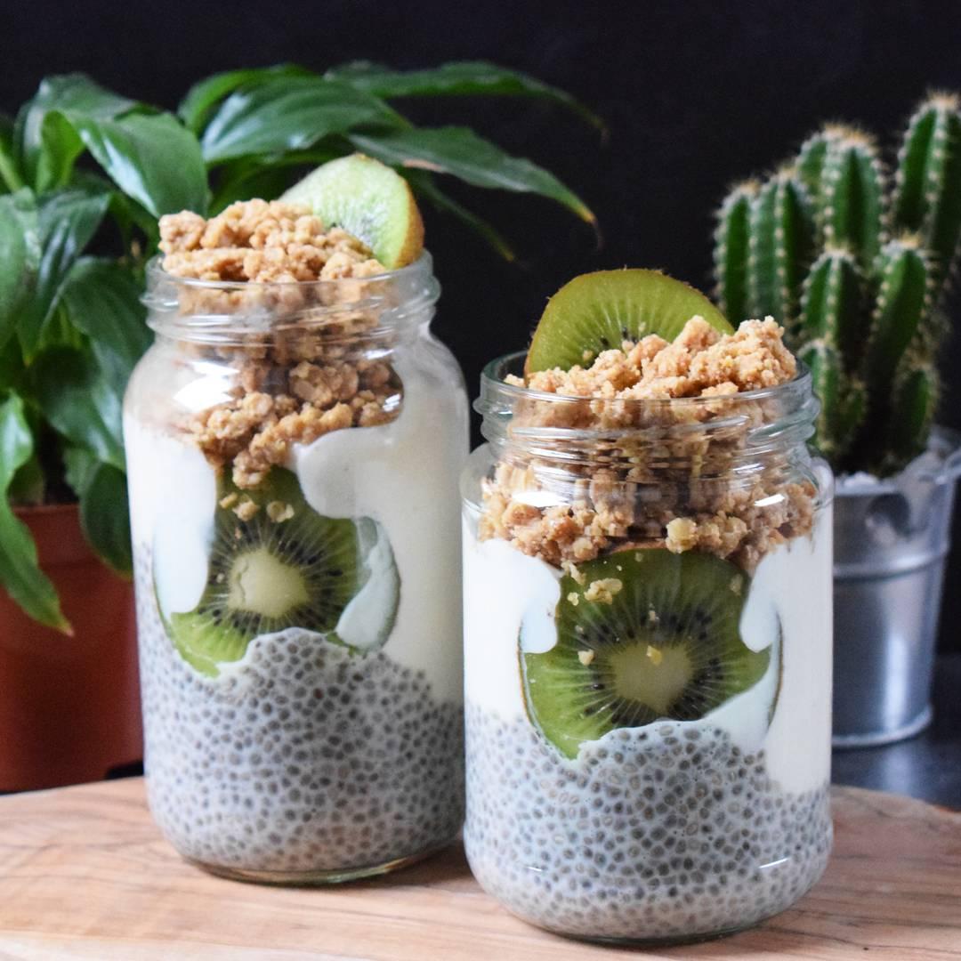Chia Pudding and Granola Jars