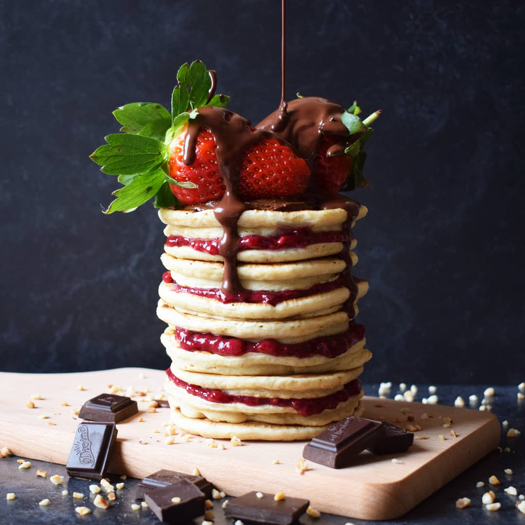 Berry Compote Pancake Stack