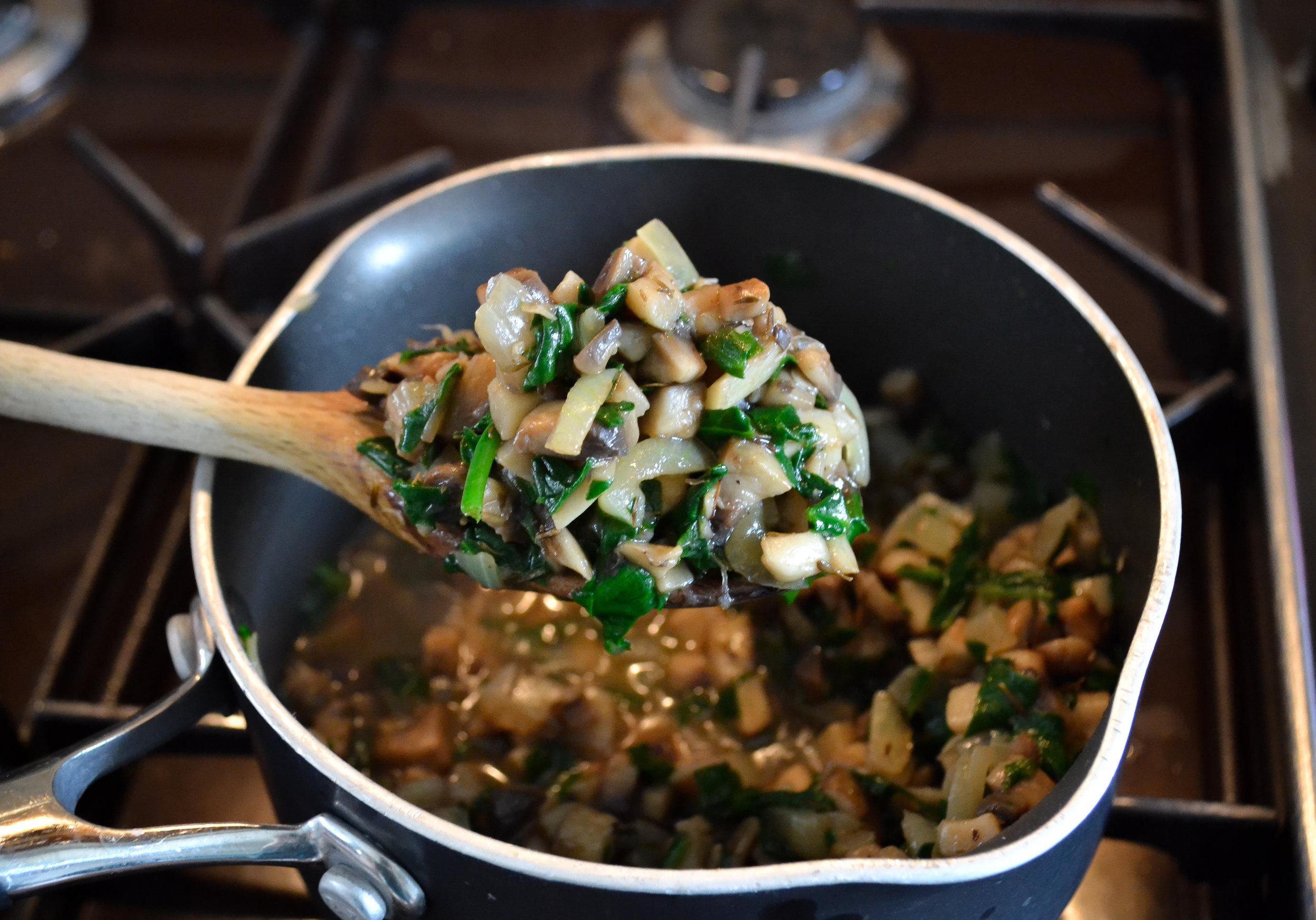 The mushroom mixture