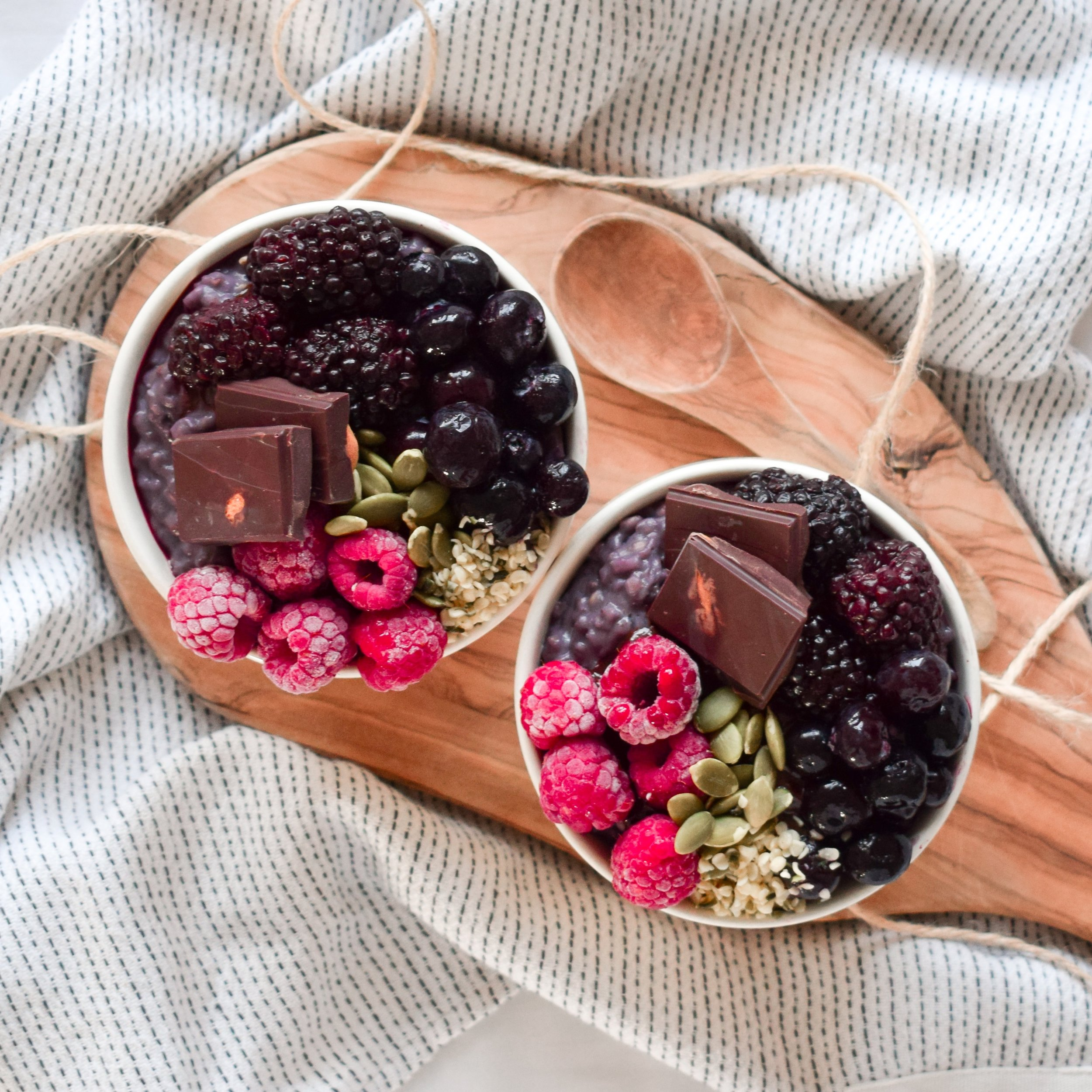 Purple Porridge and Toppings by Ally The Earthling