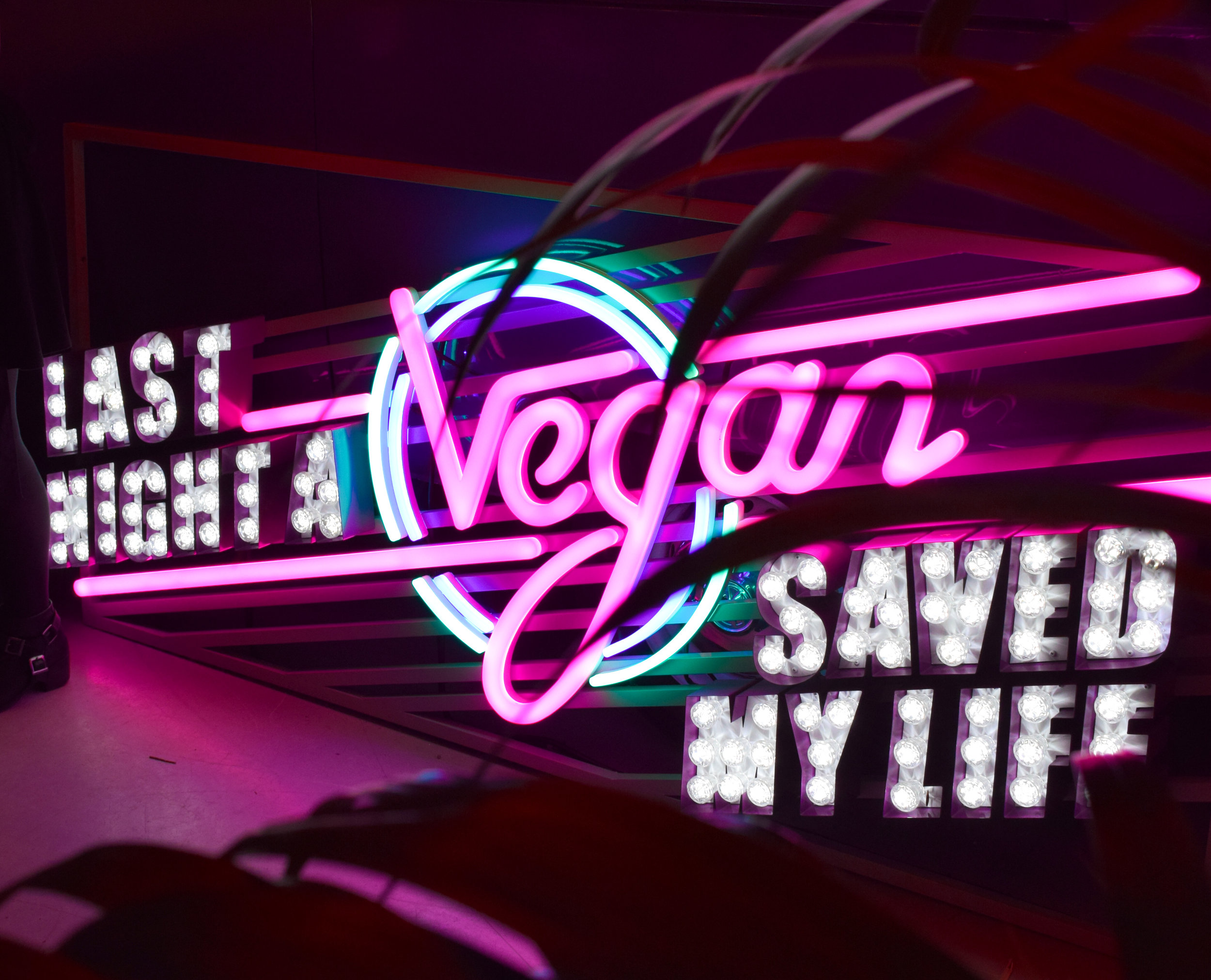 Last Night a Vegan Saved My Life neon sign - something I need in my house!
