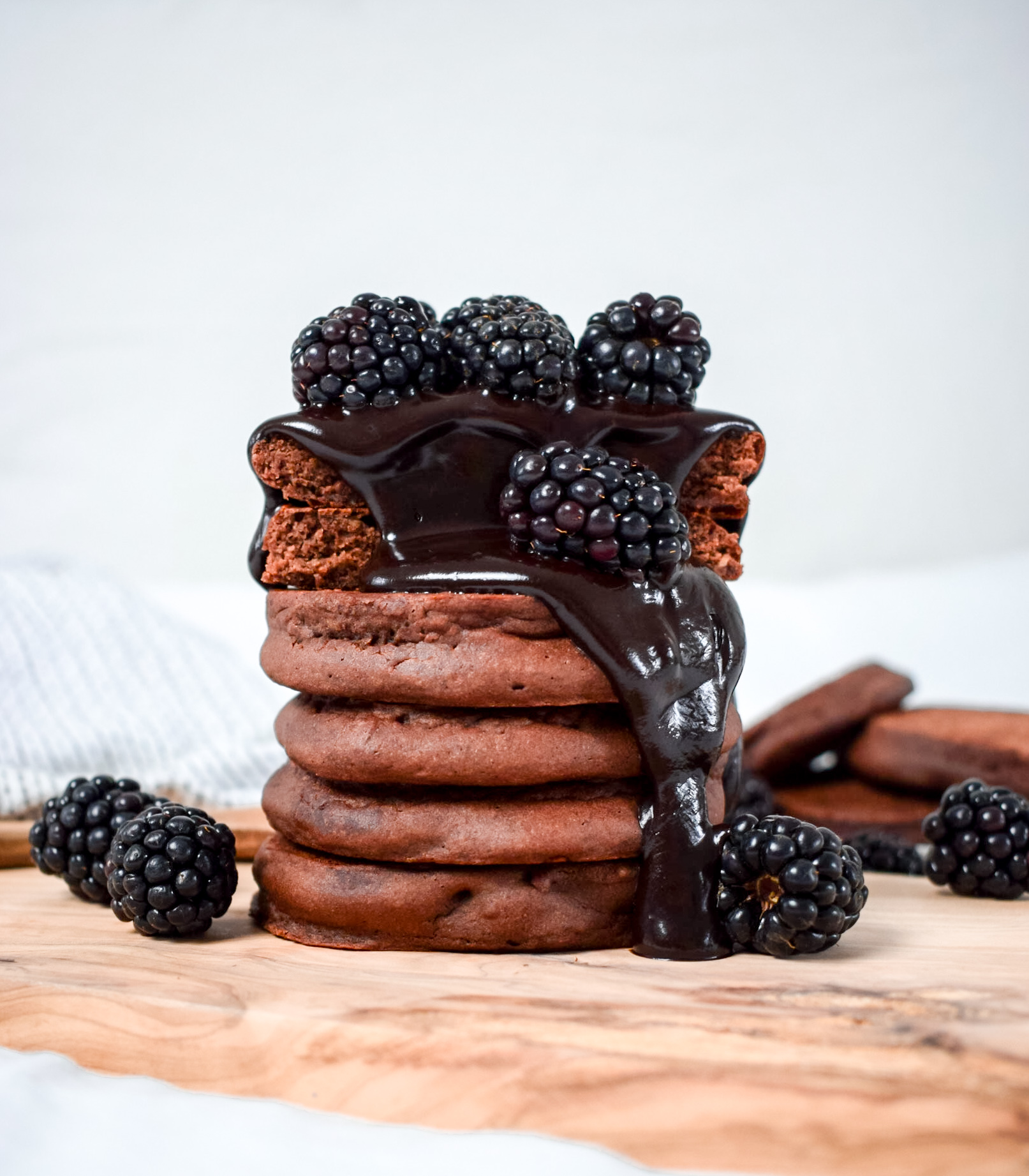 Vegan-Gluten-Free-Fluffy-Thick-Chocolate-Pancakes-Recipe-Ally-The-Earthling
