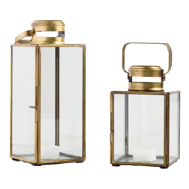 Antiqued Brass Cargo Lanterns / World Market
