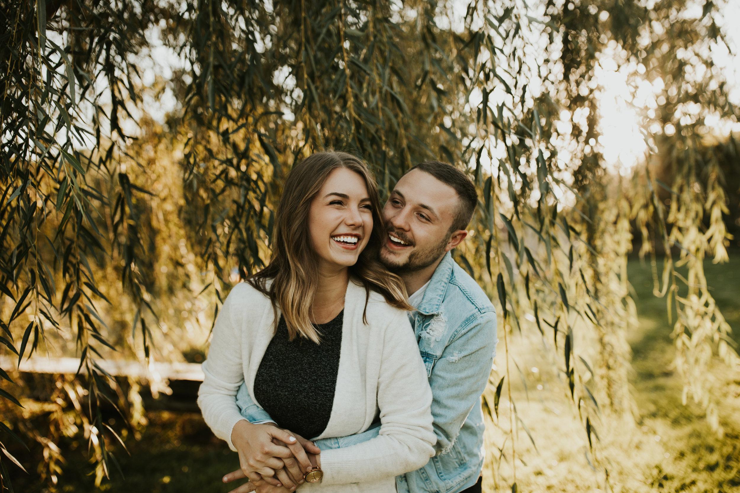 Anna + Garrett   Golden, Autumn engagement session in Iowa City.