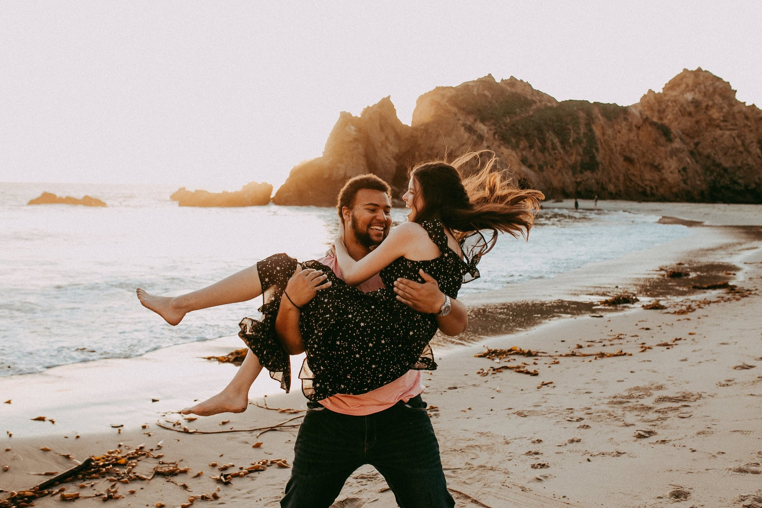 Jess + Jackson   Adventurous couple session in Big Sur, CA at sunset.