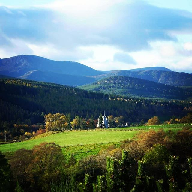 An October Balmoral Castle viewed from the cottage.