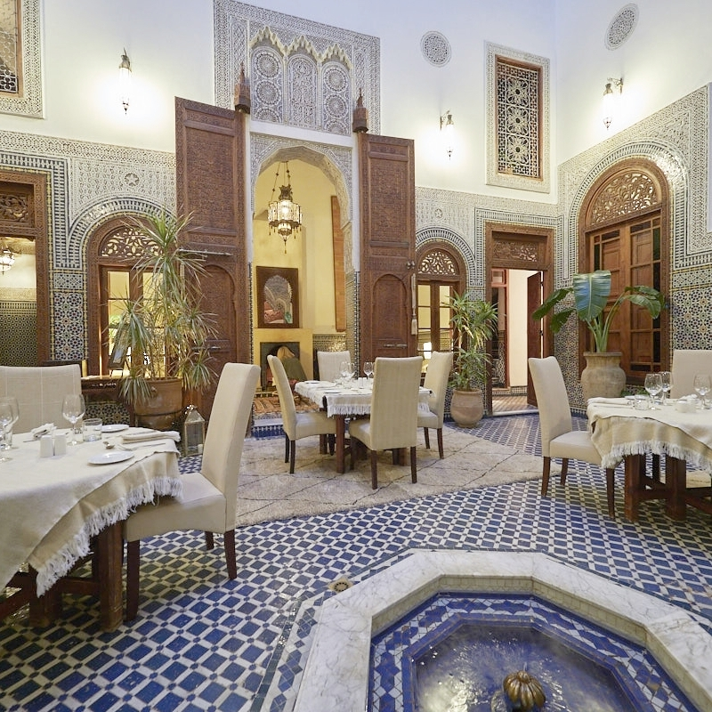 Intimate Dining Room at the heart of Dar Roumana