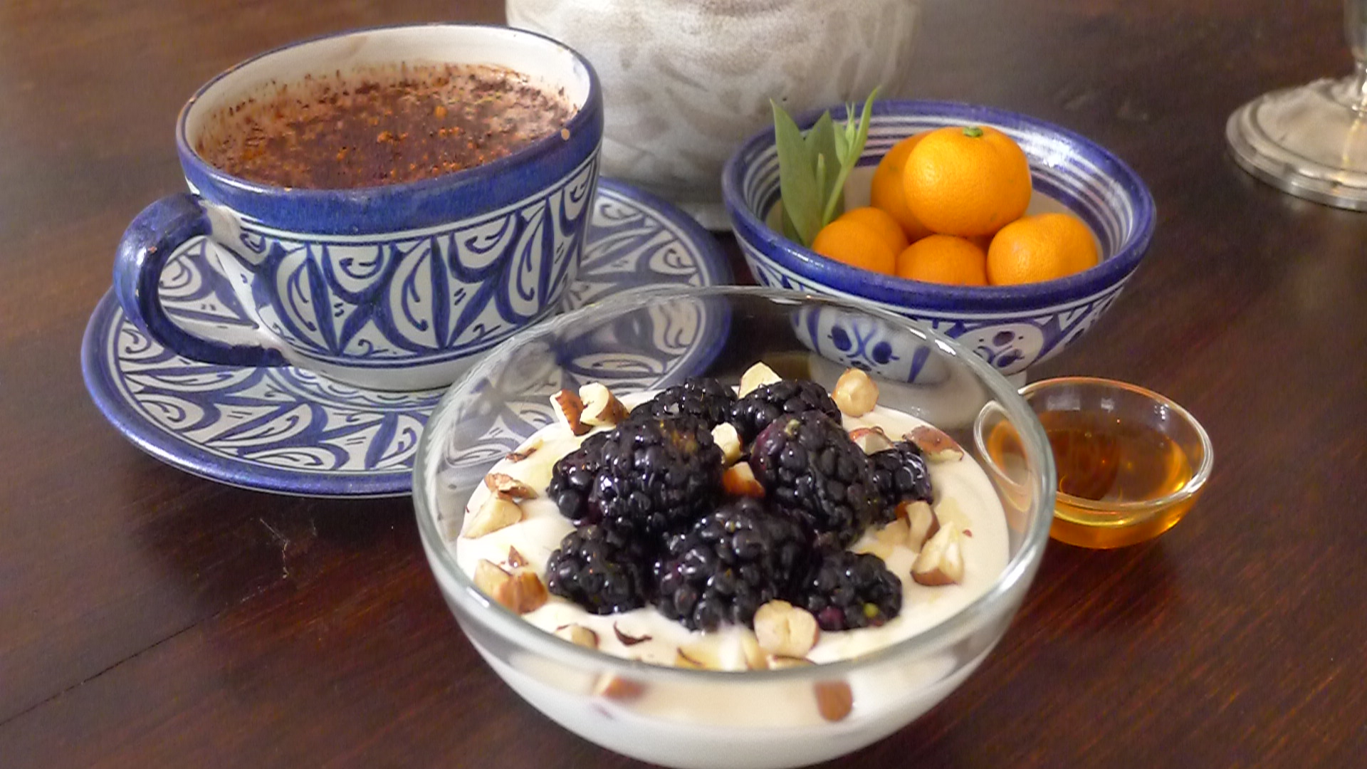 Breakfast Bowl of Natural Yoghurt, Fresh Fruit, and Moroccan Honey