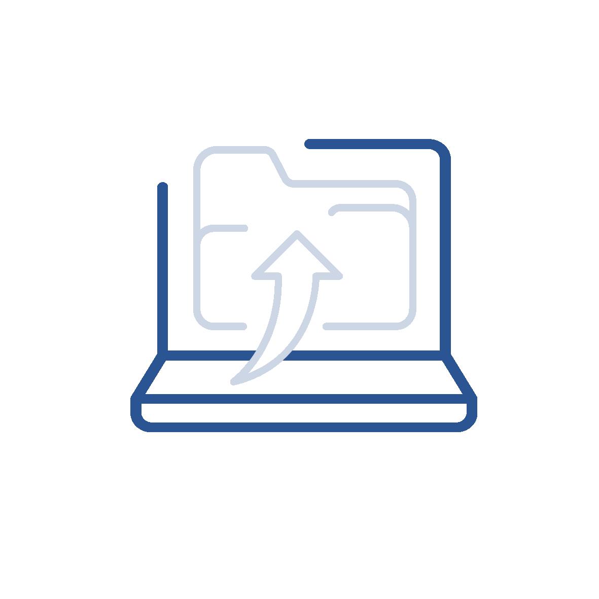 Oversikt over dokumenter på sak, og mulighet for drag-and-drop for å laste opp flere