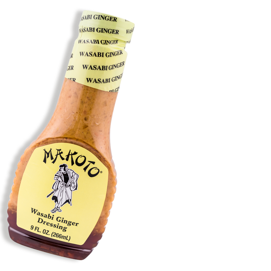 Wasabi Ginger Dressing - This zesty match of wasabi and ginger. To be used as a dressing, marinade, or dip which will add a zing to any meal. (Product has limited availability. Please inquire with produce manager if not found).