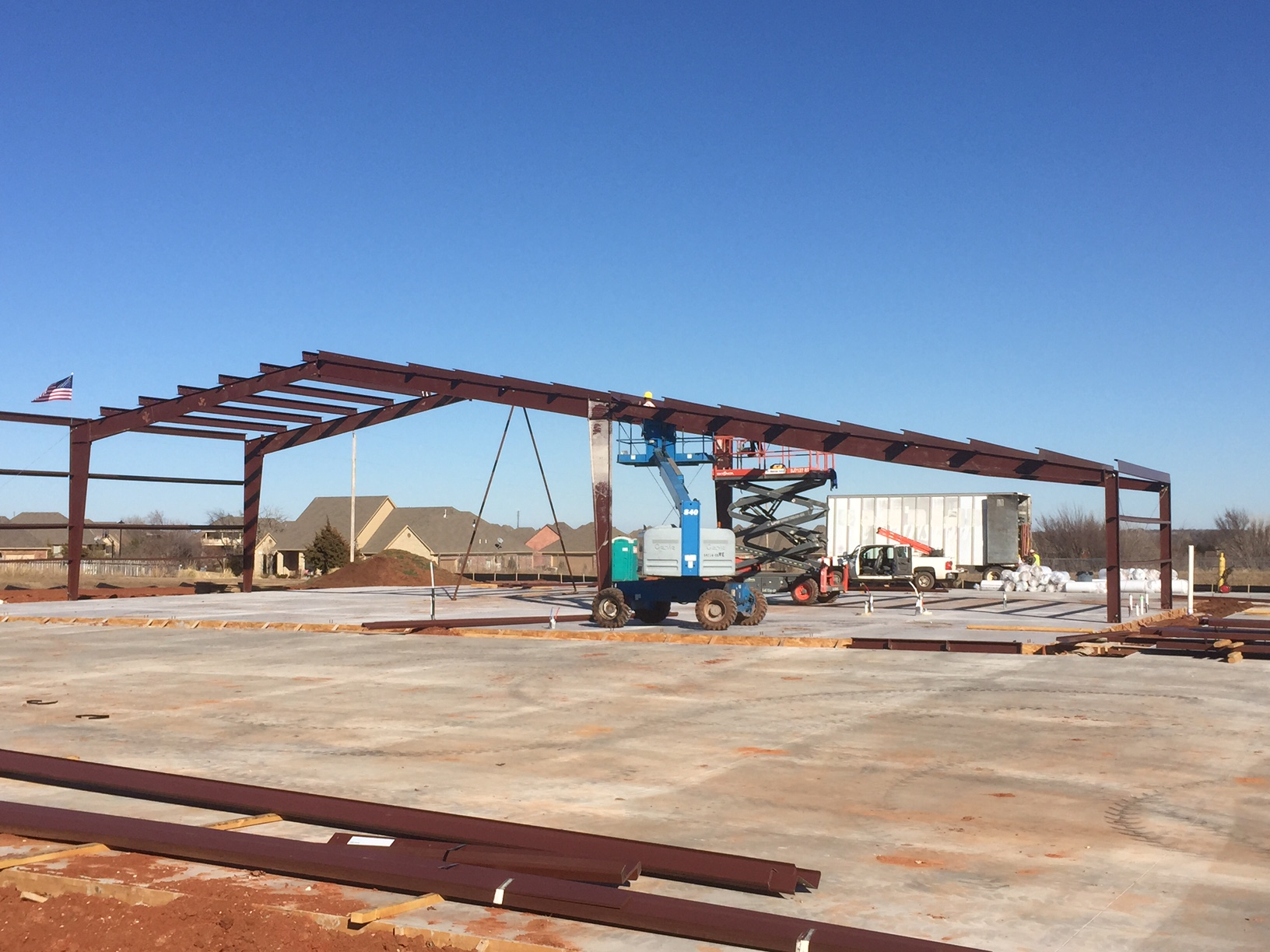 Government Fire Station Construction Steel Deer Creek Edmond