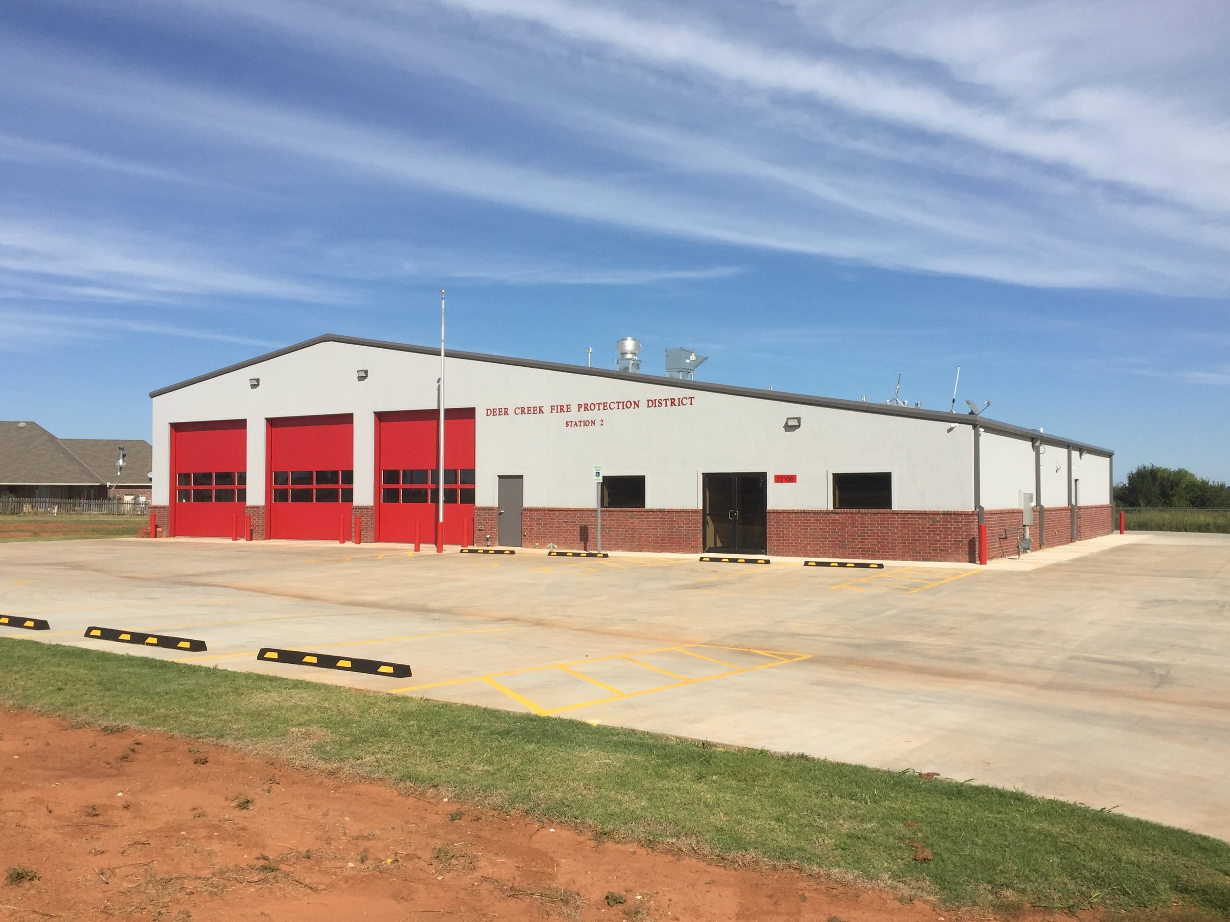 Fire Station Painted Construction Edmond Oklahoma