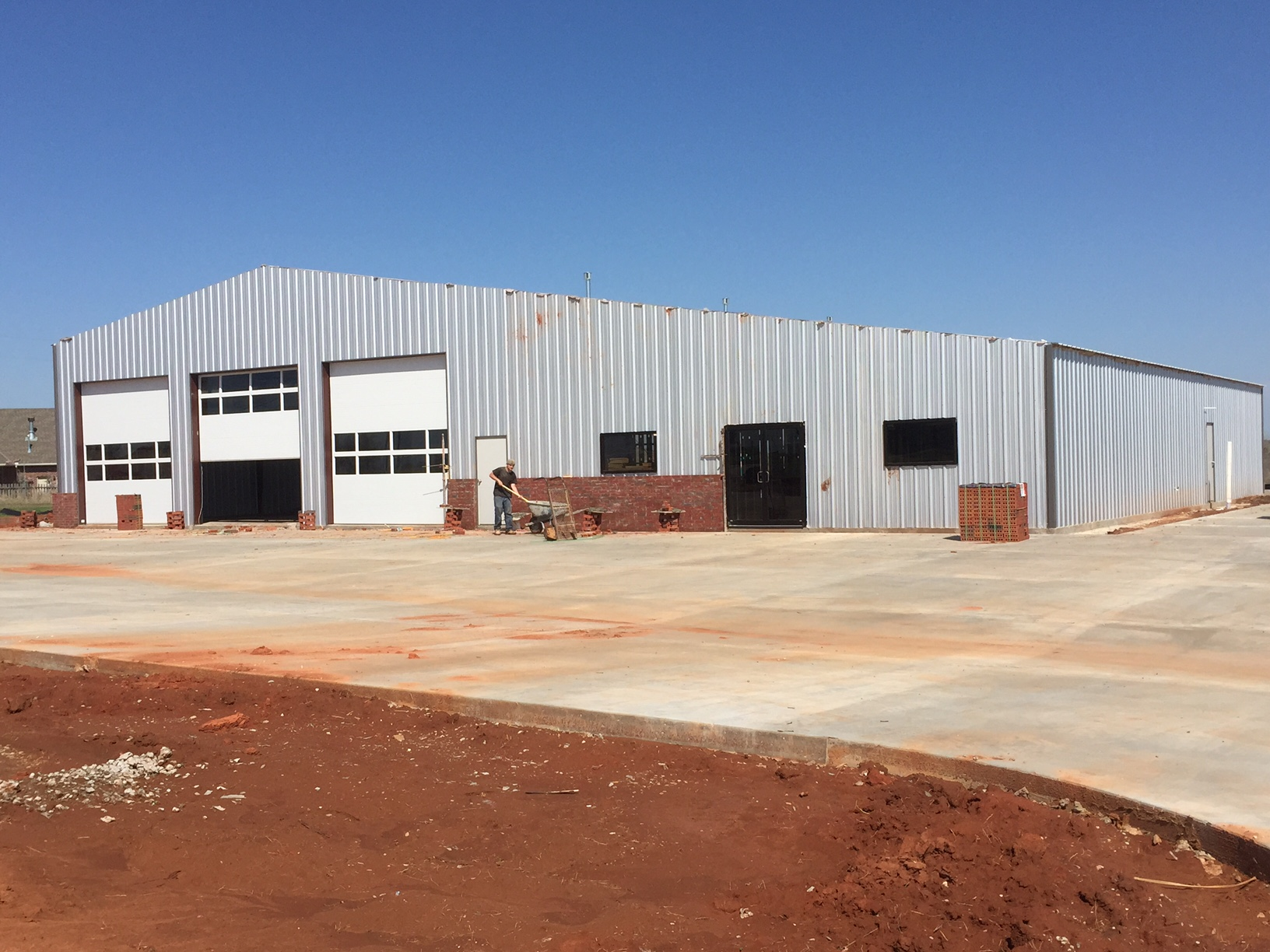 Fire Station Construction Steel Doors Edmond Oklahoma