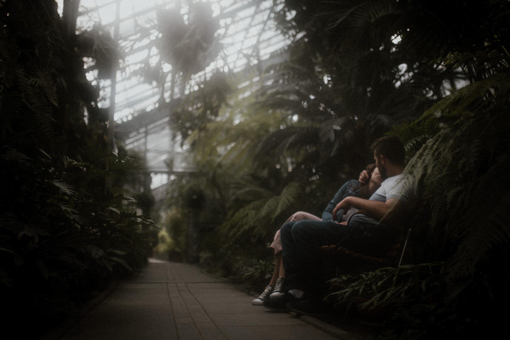 sesja w ogrodzie botanicznym