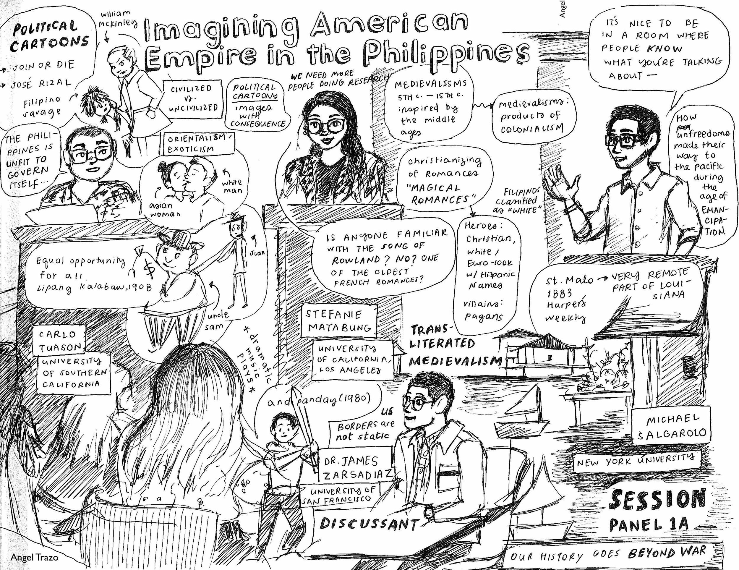Bulosan Center for Filipinx Studies Research Conference, May 2019. Sketch by  Angel Trazo .