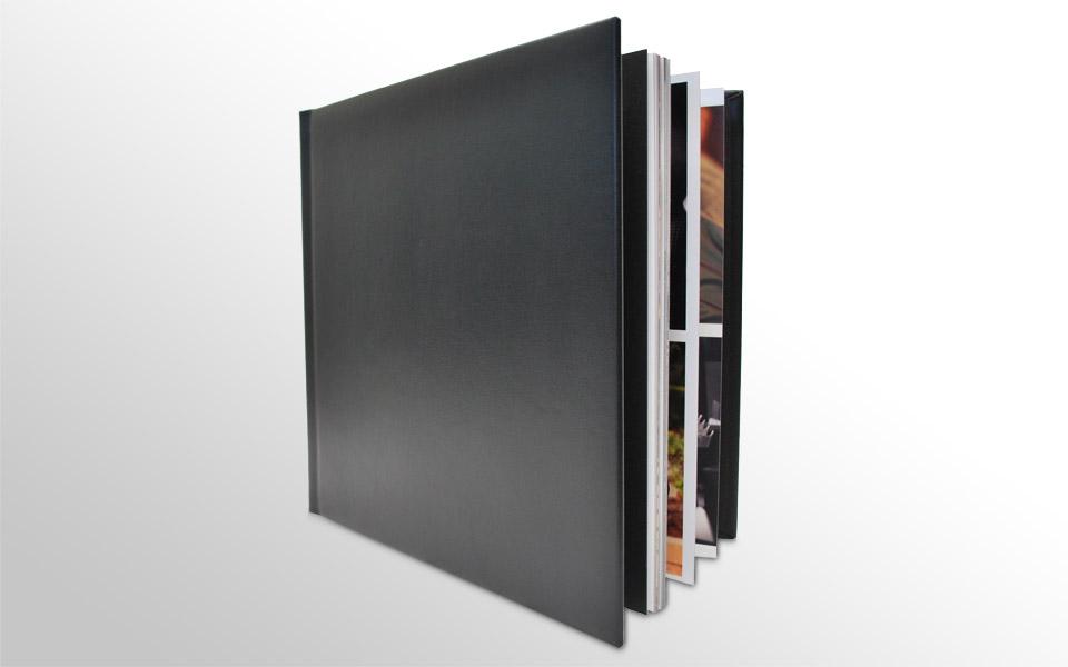 Classic Album - 5 spreads - Black Leather