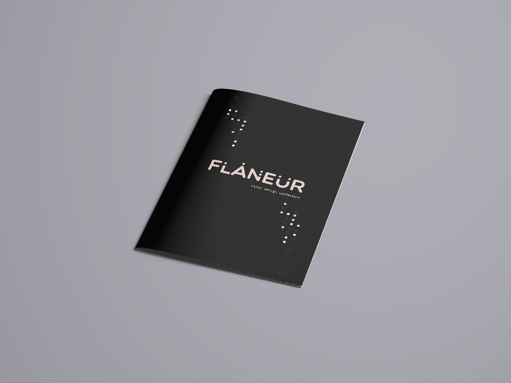 Flâneur - This project was designed for a prototype UI/UX design conference. The goal of this conference was to inform the audience in how to approach life with a