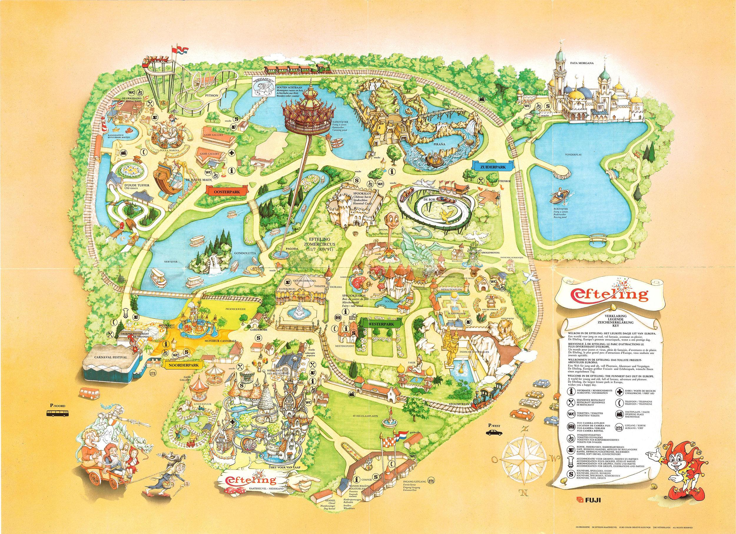 Efteling plattegrond 1991