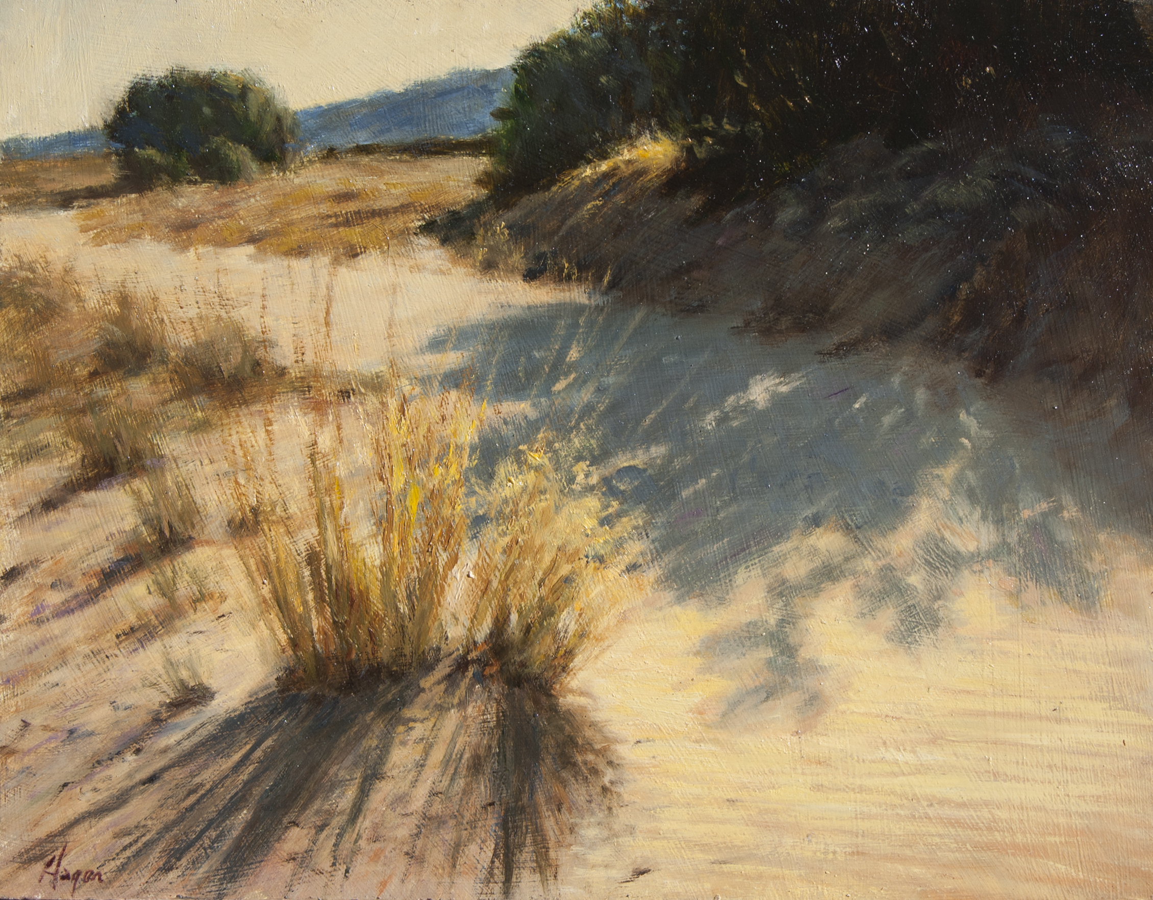 "Arroyo Grass • 11"" x 14"" • Oil"