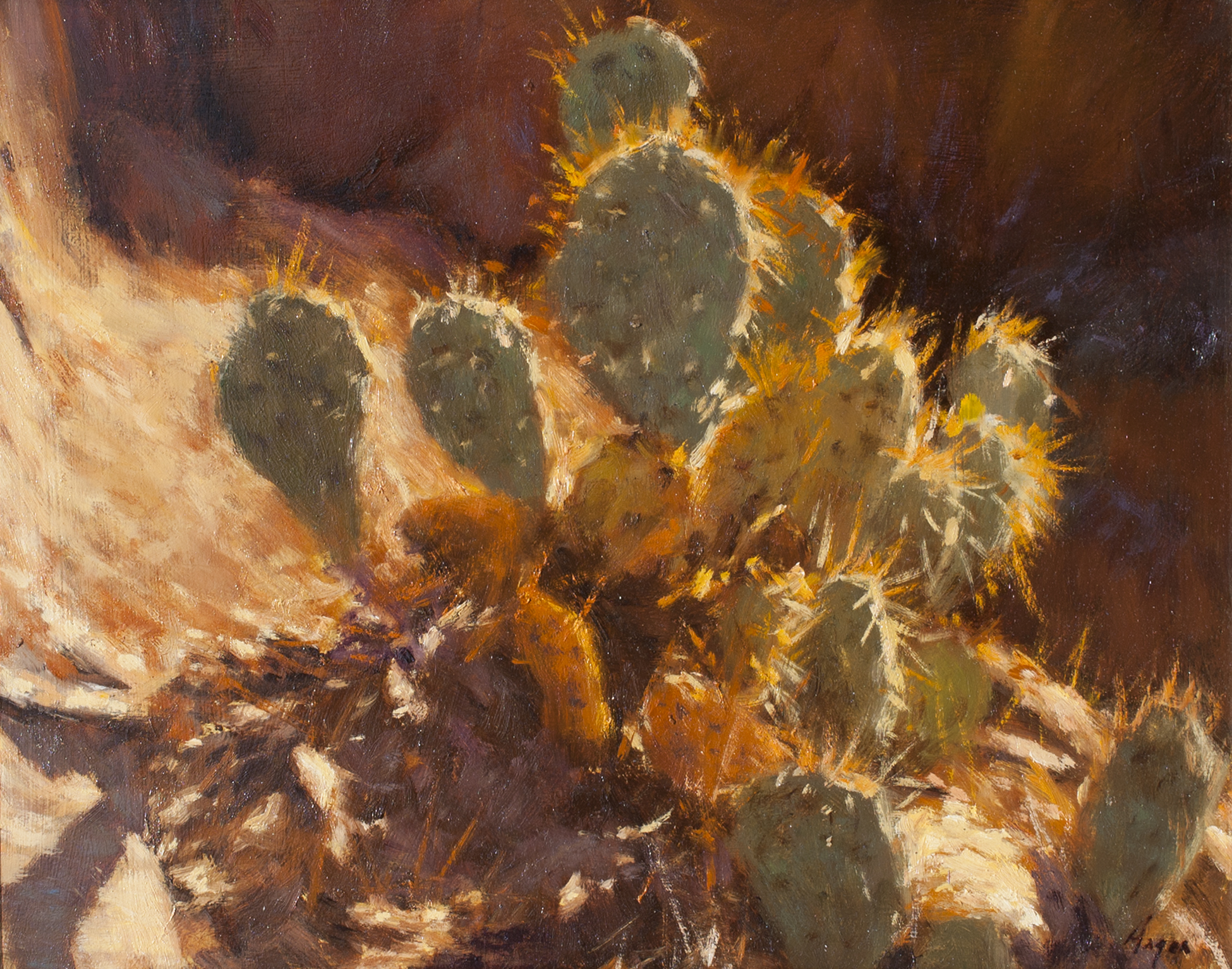 "Hot and Prickly • 11"" x 14"" • Oil"