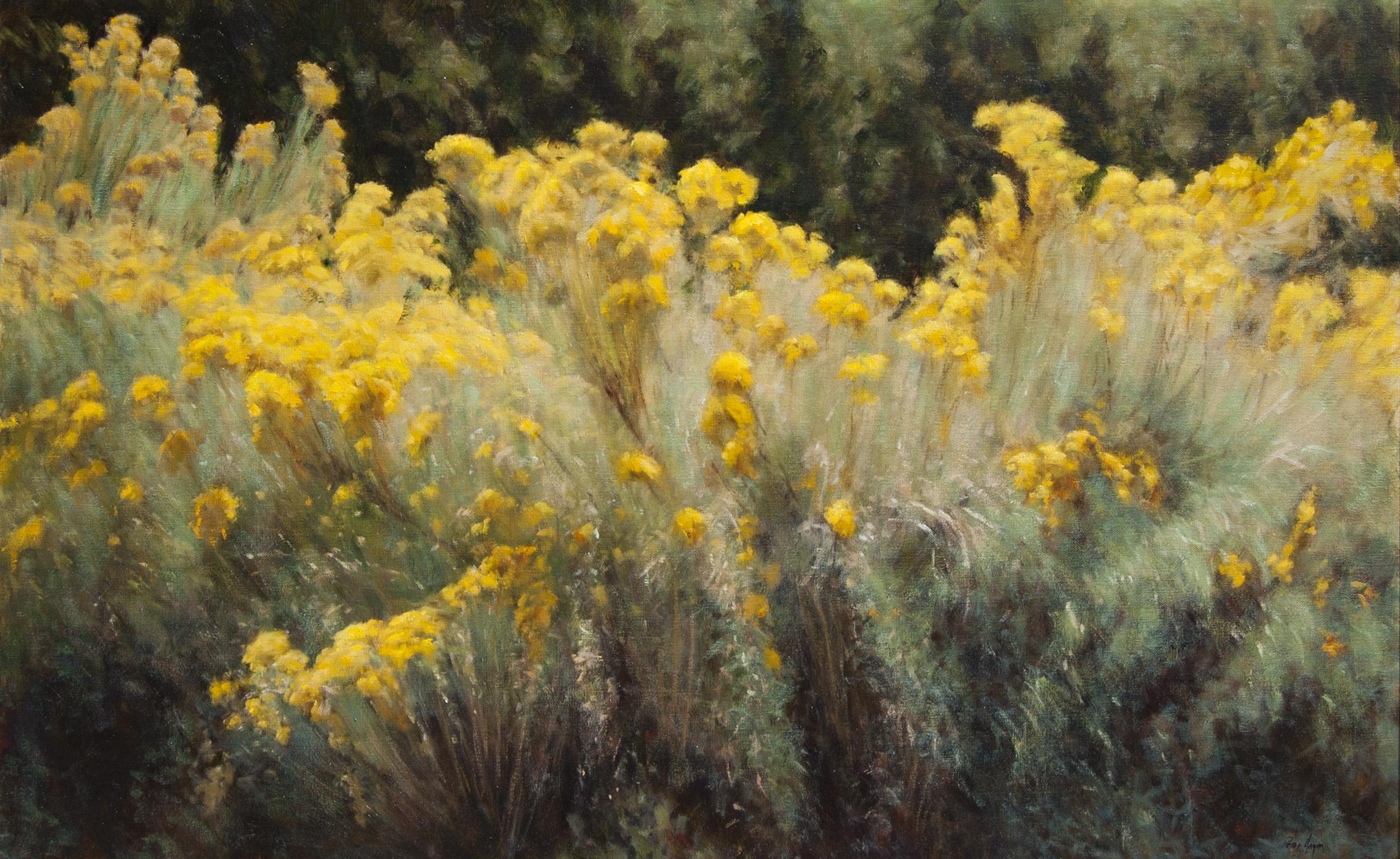 """Santa Fe's Wild Chamisa • 30"""" x 48"""" • Oil"""