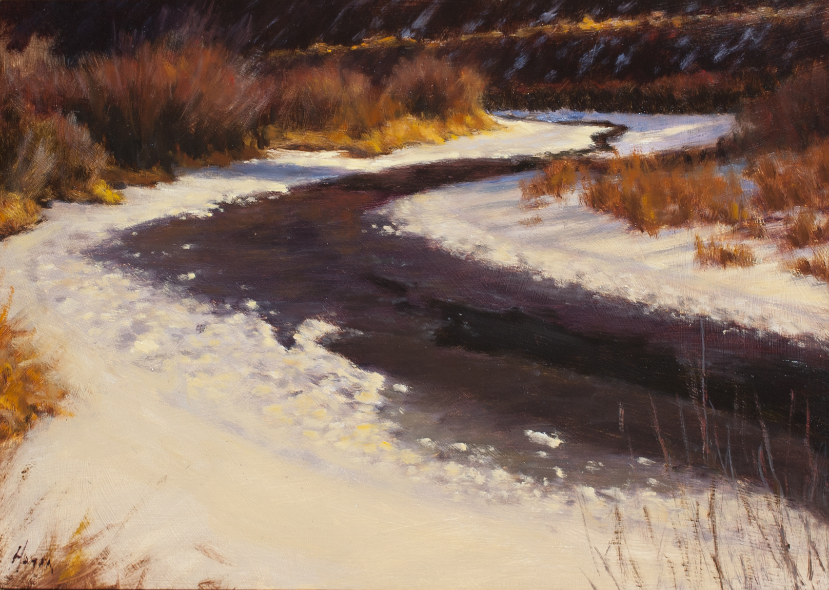 "Winter on the Rio • 10"" x 14"" • Oil"