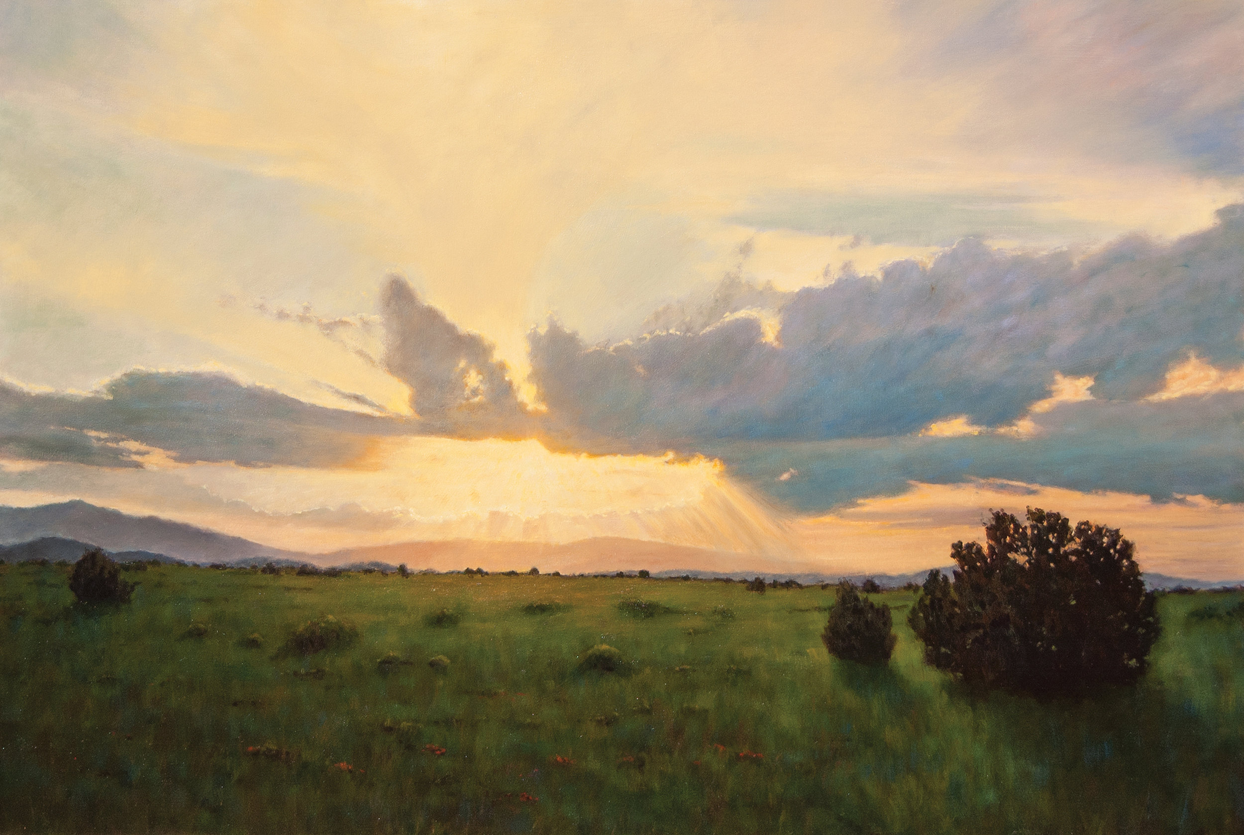 "Lincoln County Sunset • 48"" x 72"" • Oil"