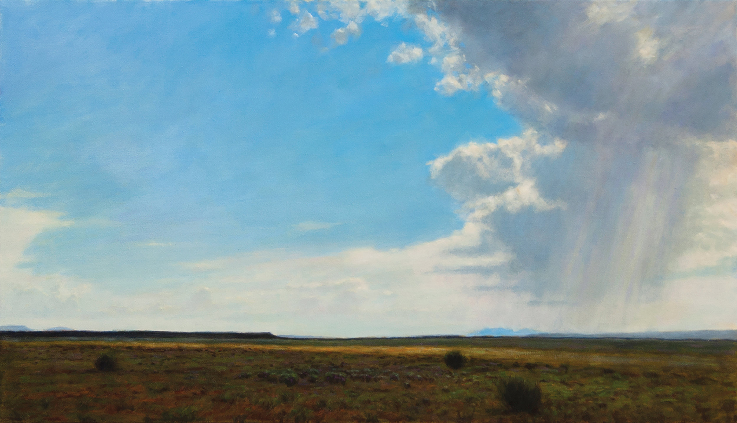 "Monsoons Over the Plains • 32"" x 56"" • Oil"