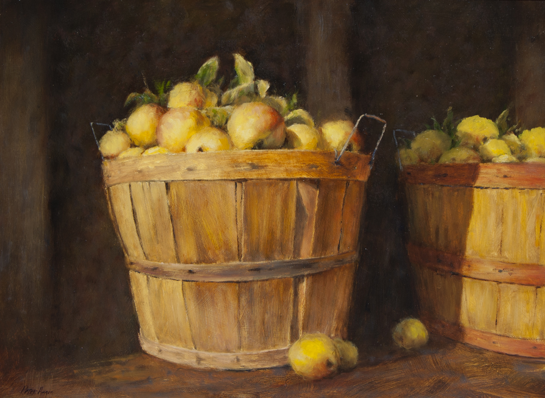 "Golden Delicious • 21"" x 28"" • Oil"
