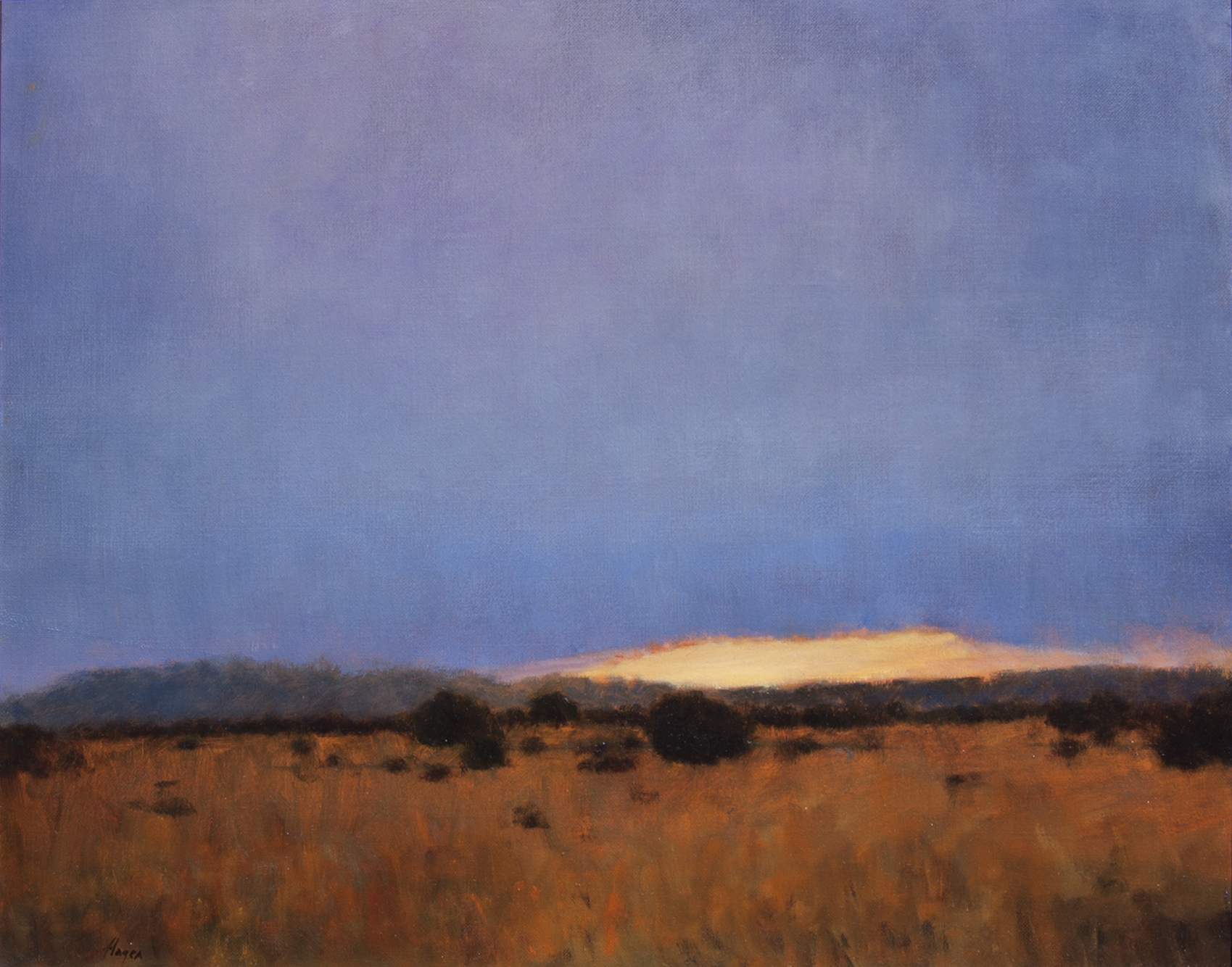 "Galisteo Sunset • 24"" x 30"" • Oil"