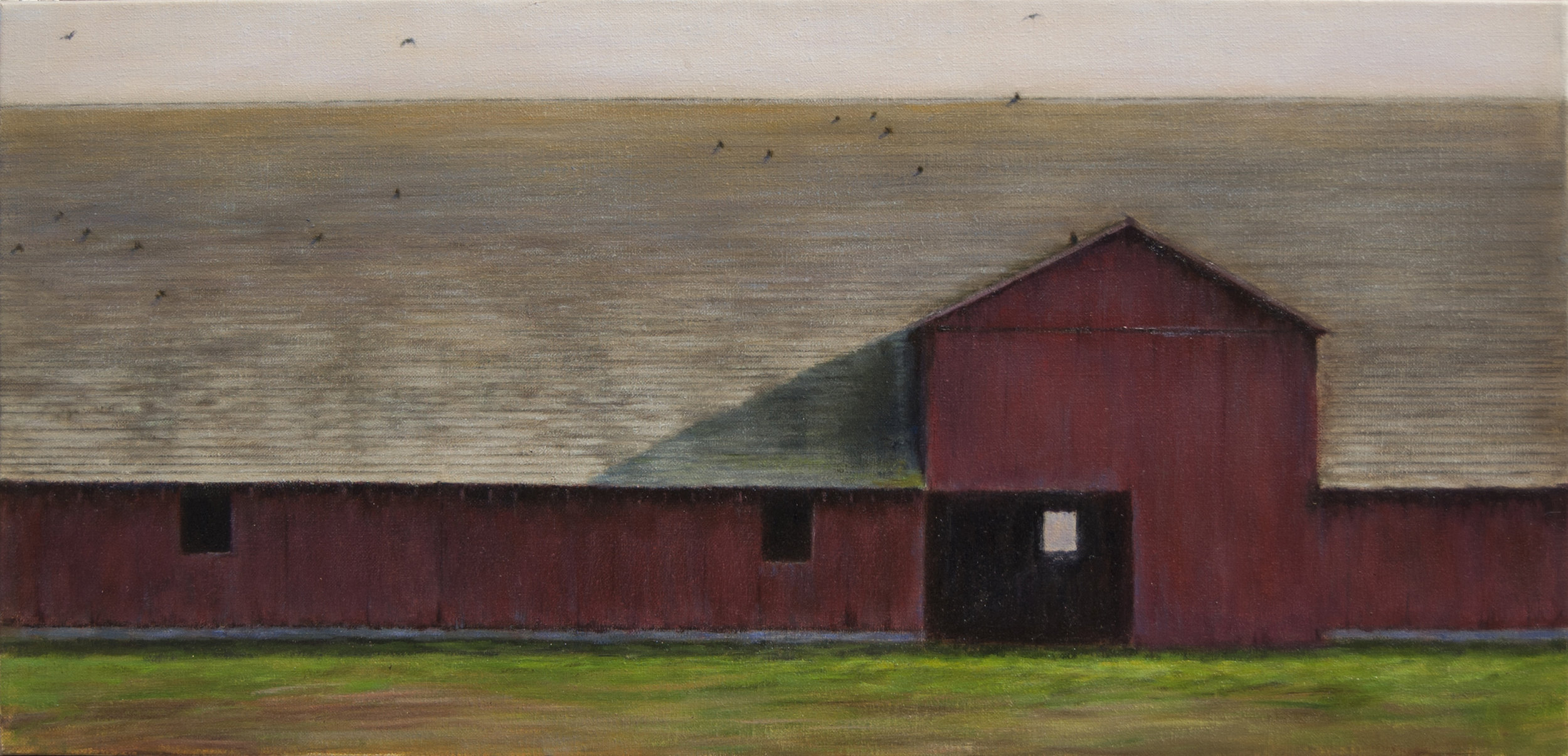"Just For Cows • 19"" x 40"" • Oil"