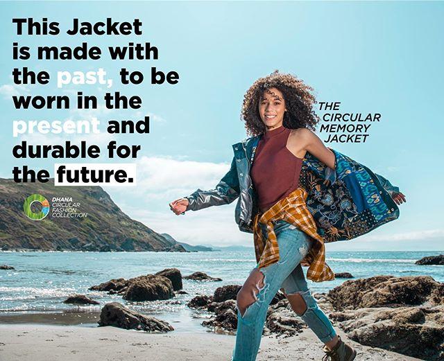 "Launching on Kickstarter this October 2019 , Dhana's signature ""the world's first circular memory jacket"" #circularfashion #wearyourmemories"