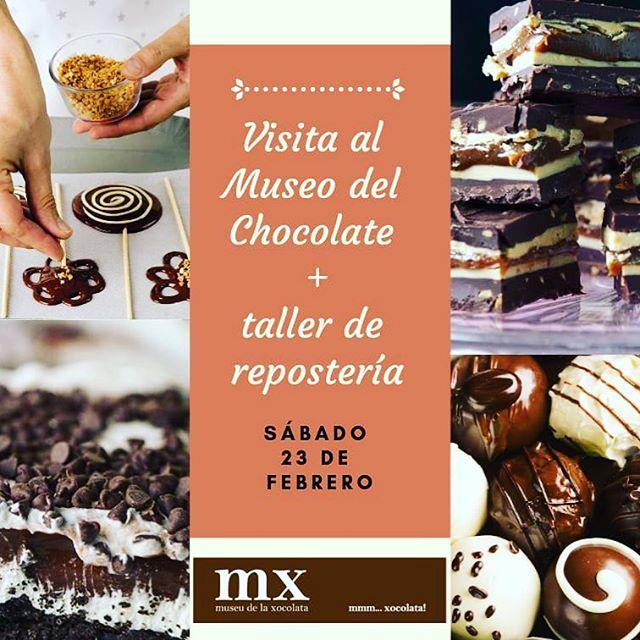 El proximo 23 vamos al museu del chocolate de Barcelona 🙌 hay visita guiada y además haremos un taller de reposteria donde nos van a enseñar a hacer piruletas de chocolate. No te lo pierdas: https://www.dacesade.com/eventos/2019/2/13/visita-guiada-al-museu-de-la-xocolata-y-taller-de-repostera