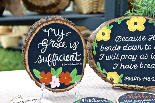 LIVING WORD DECOR - Handmade signs + decor to bless your life and home. These creative gifts feature special verses + encouragement that serve as daily reminders in any home.