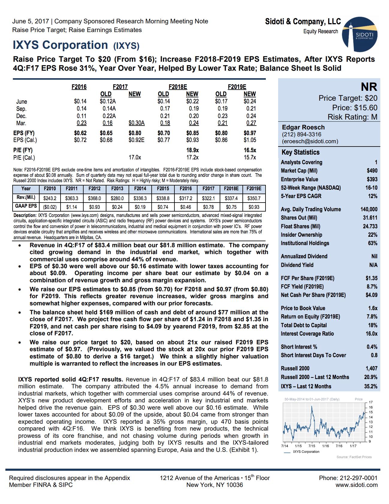 Earnings Report: June 5,2017