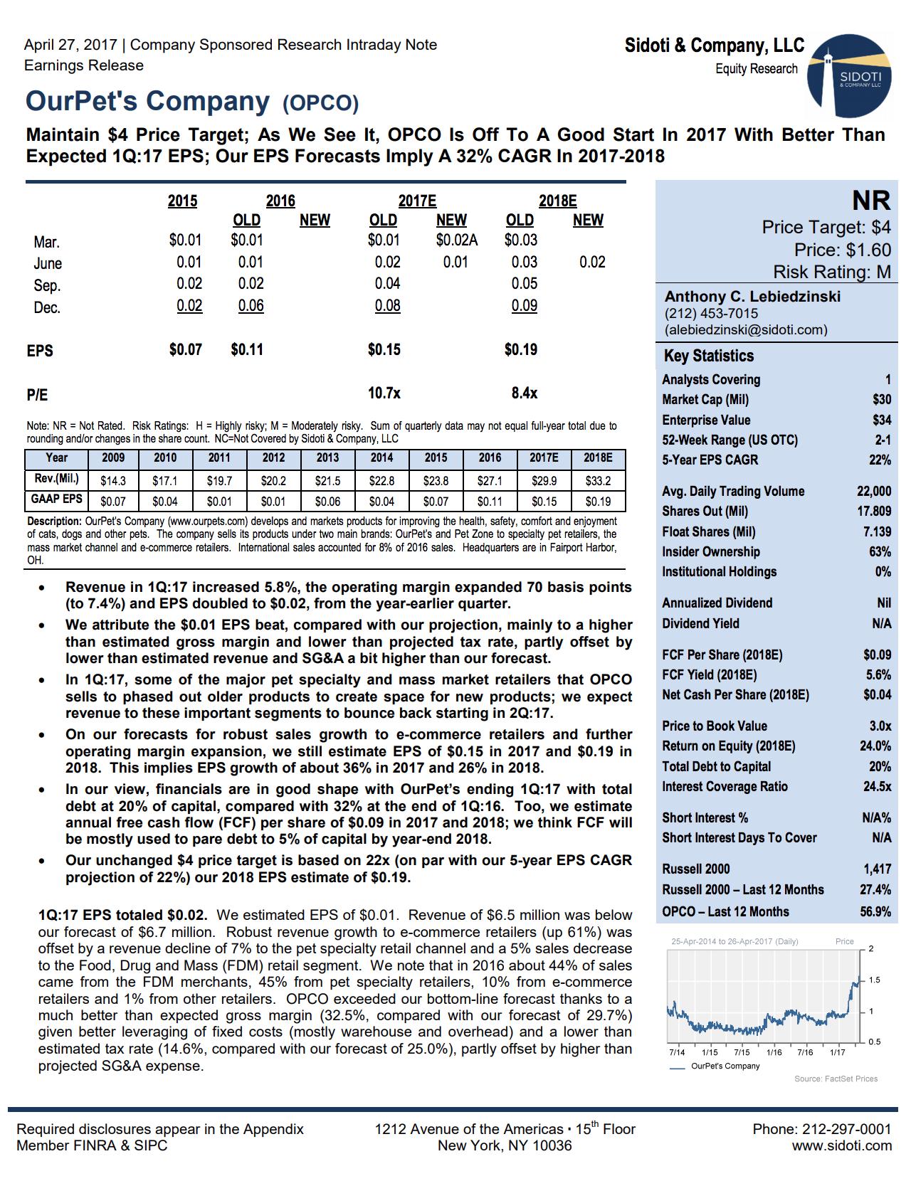 Earnings Report: April 27, 2017