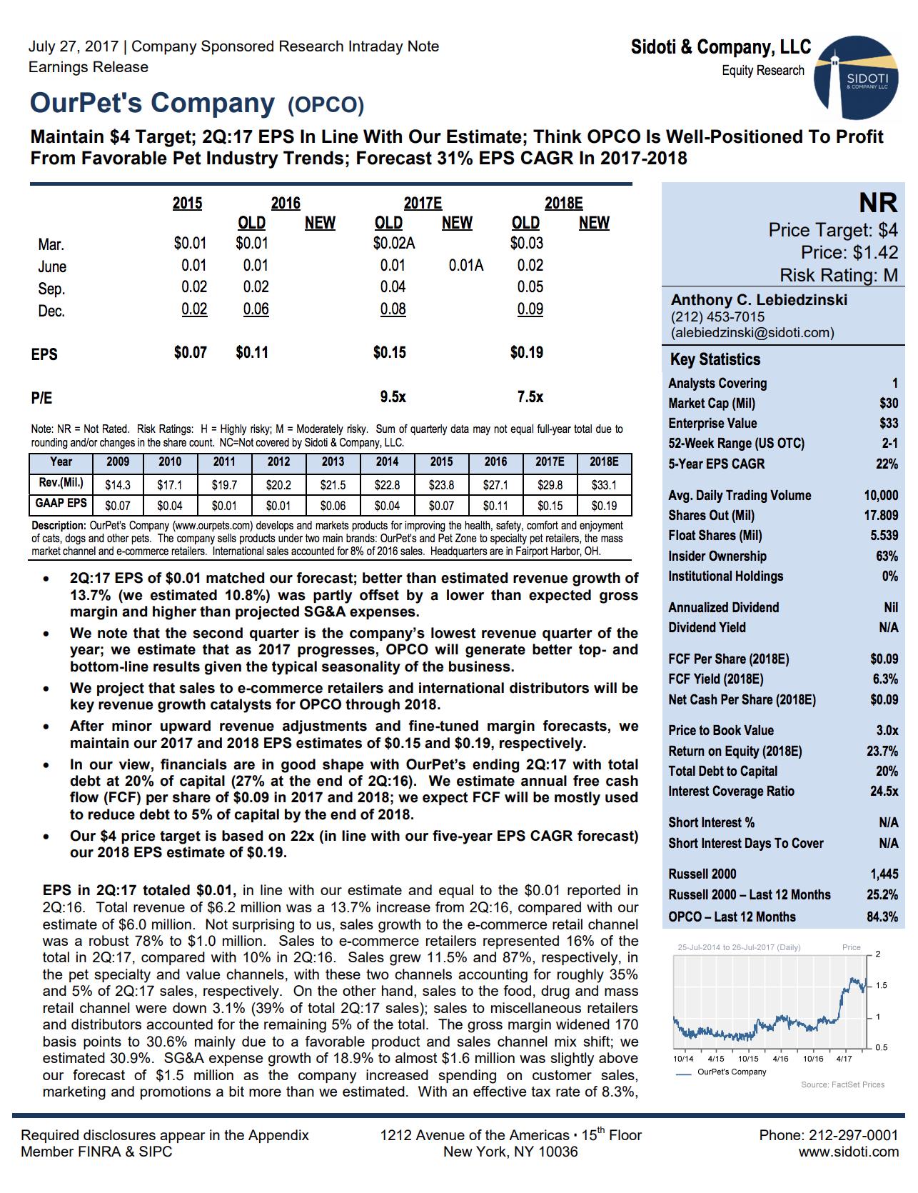 Earnings Report: July 27, 2017