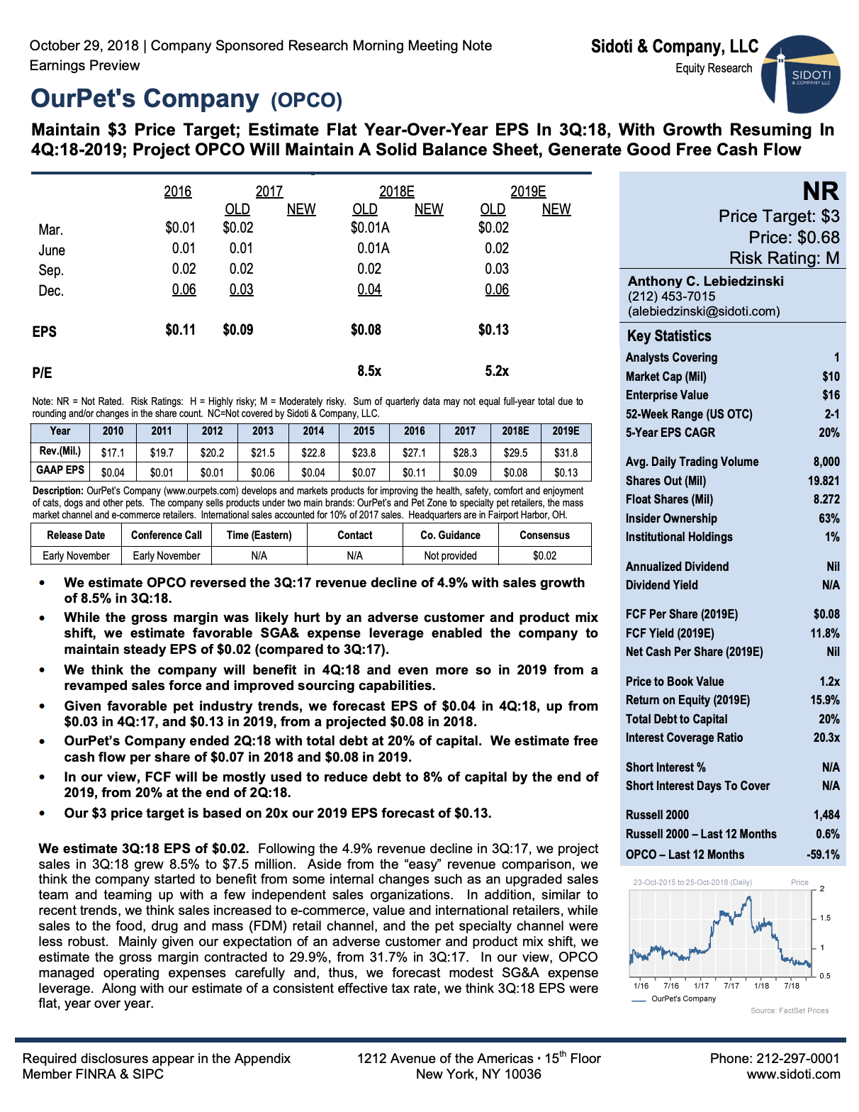 Earnings Preview: October 29, 2018