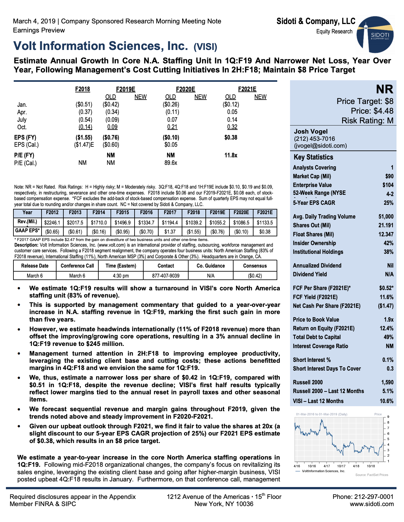 Earnings Preview: March 4, 2019