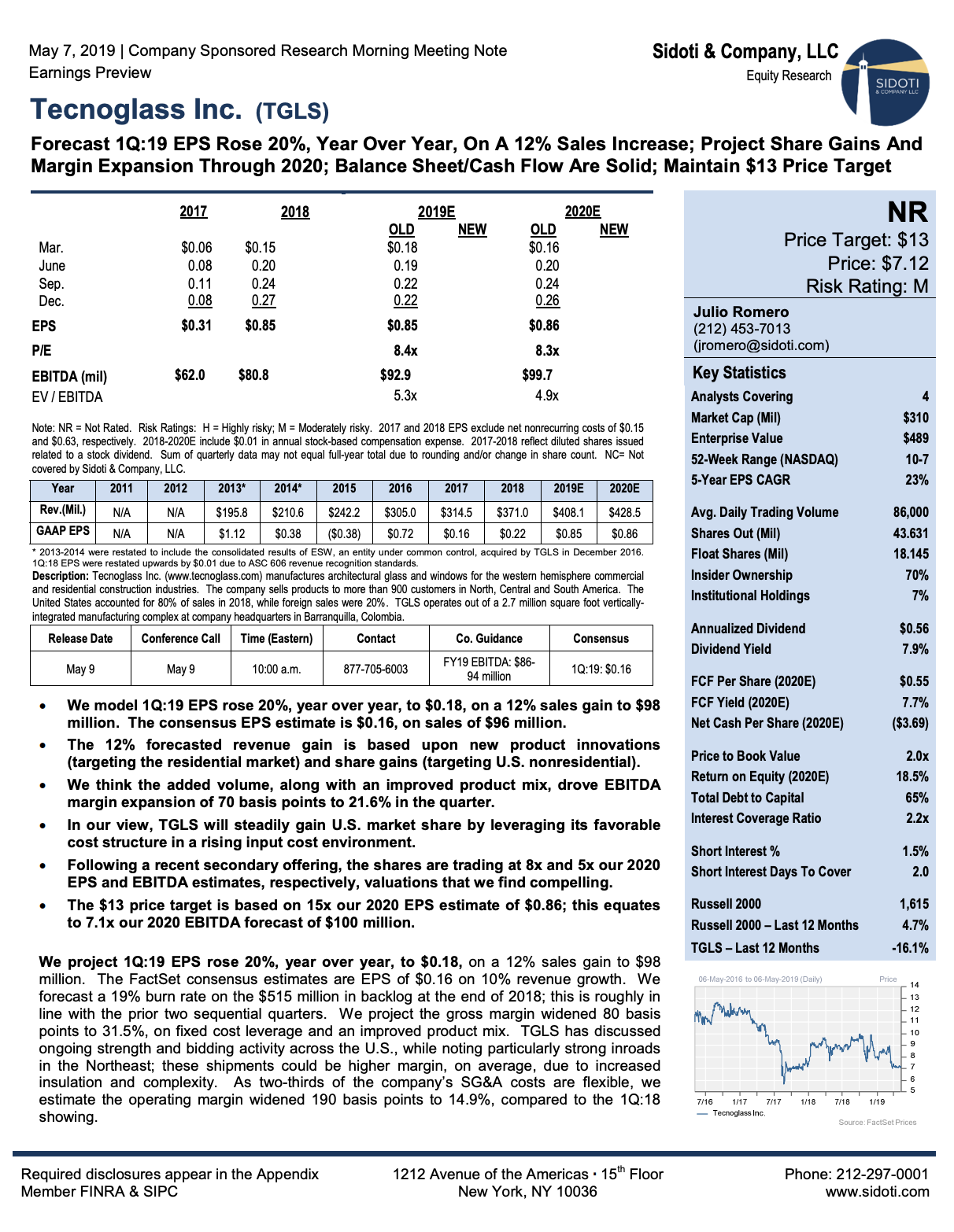 Earnings Preview: May 7, 2019