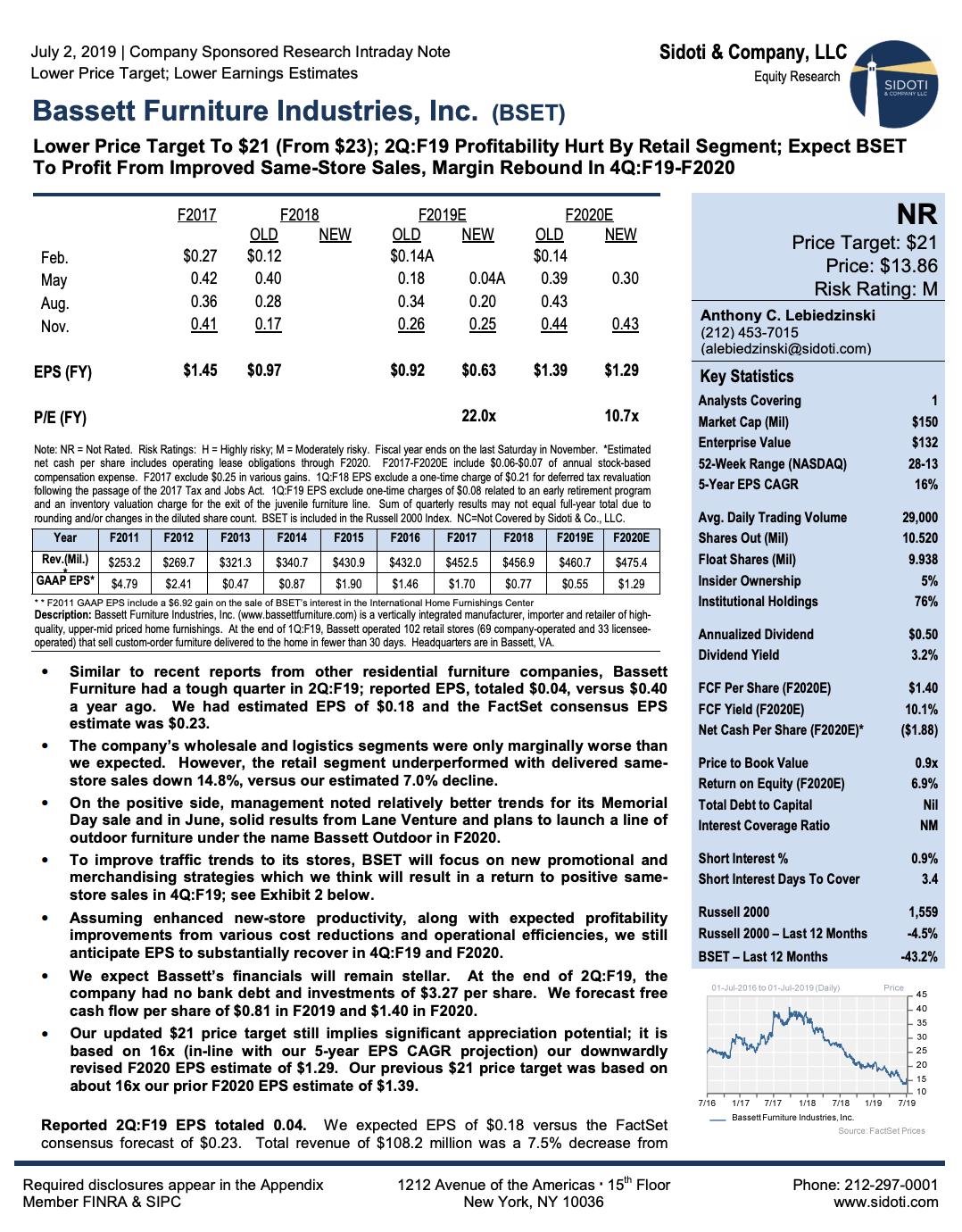 Earnings Report: July 2, 2019