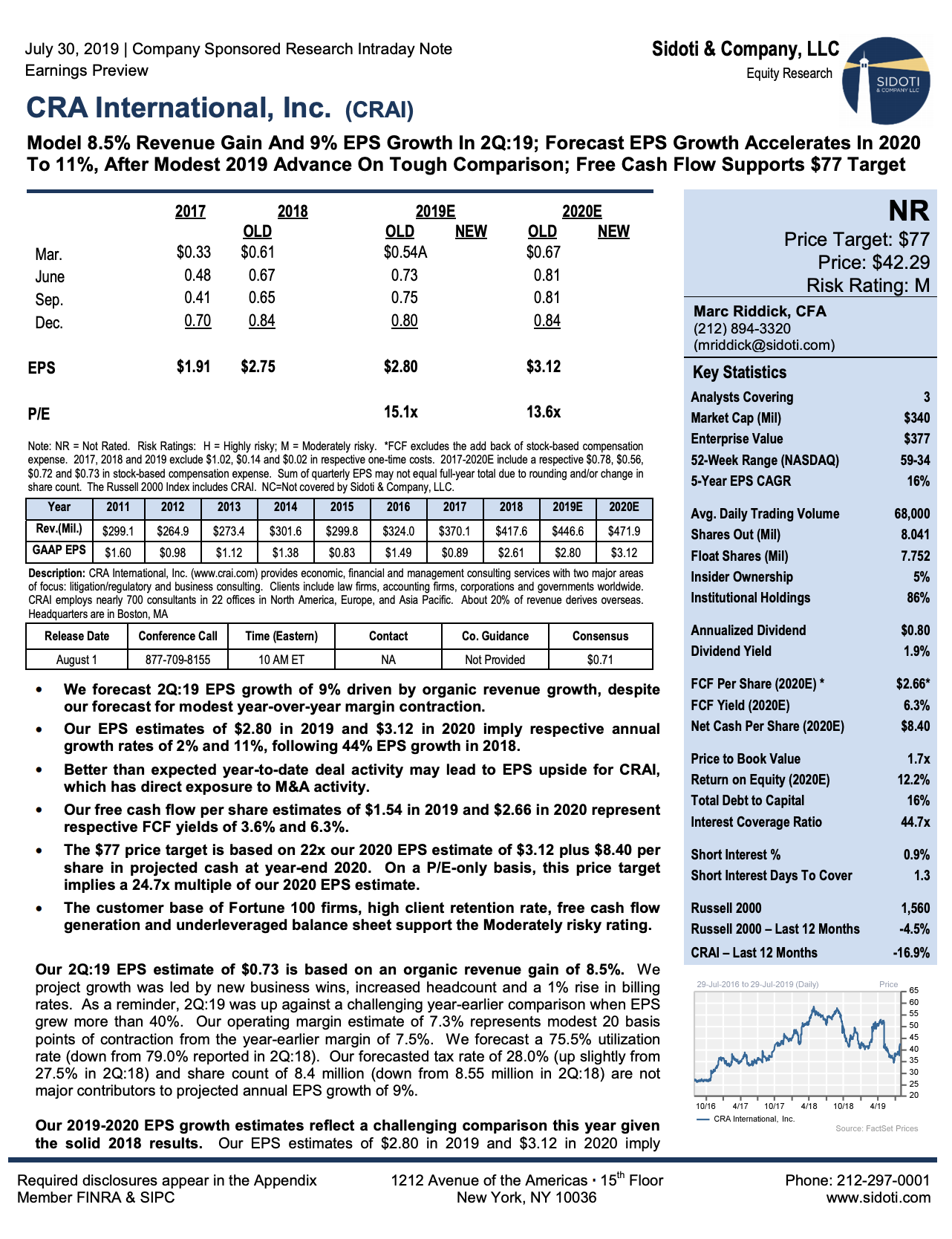 Earnings Preview: July 30, 2019