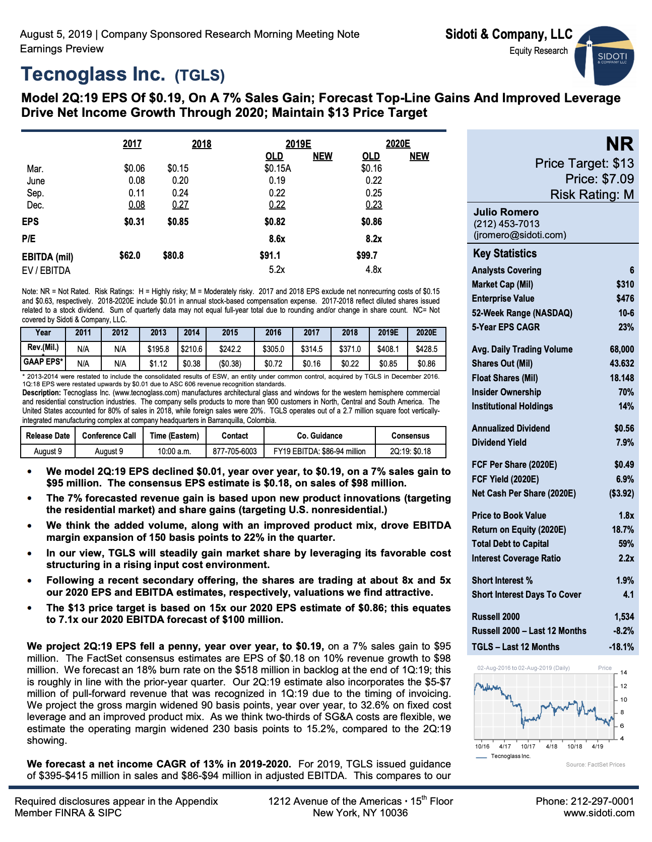 Earnings Preview: August 5, 2019