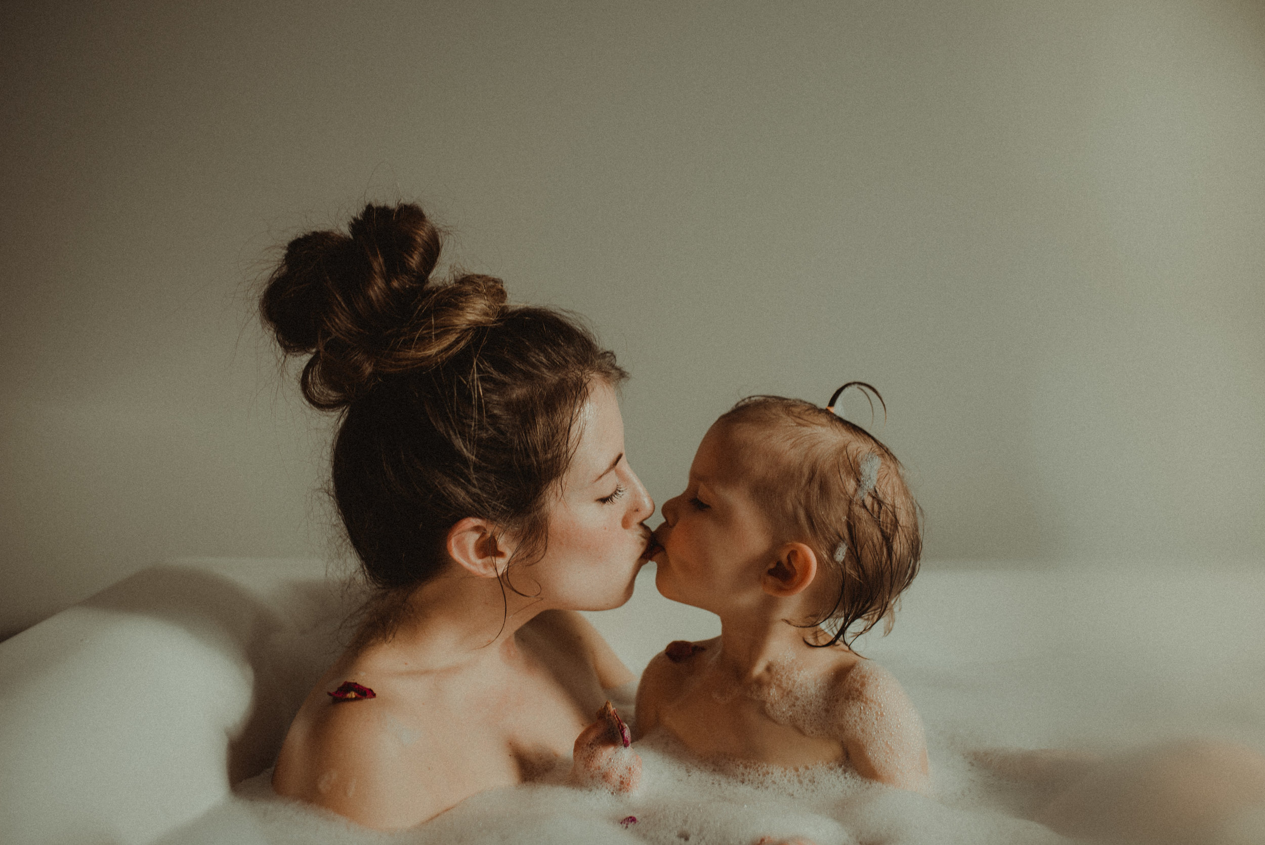mother, daughter, bubble bath, lethbridge, alberta