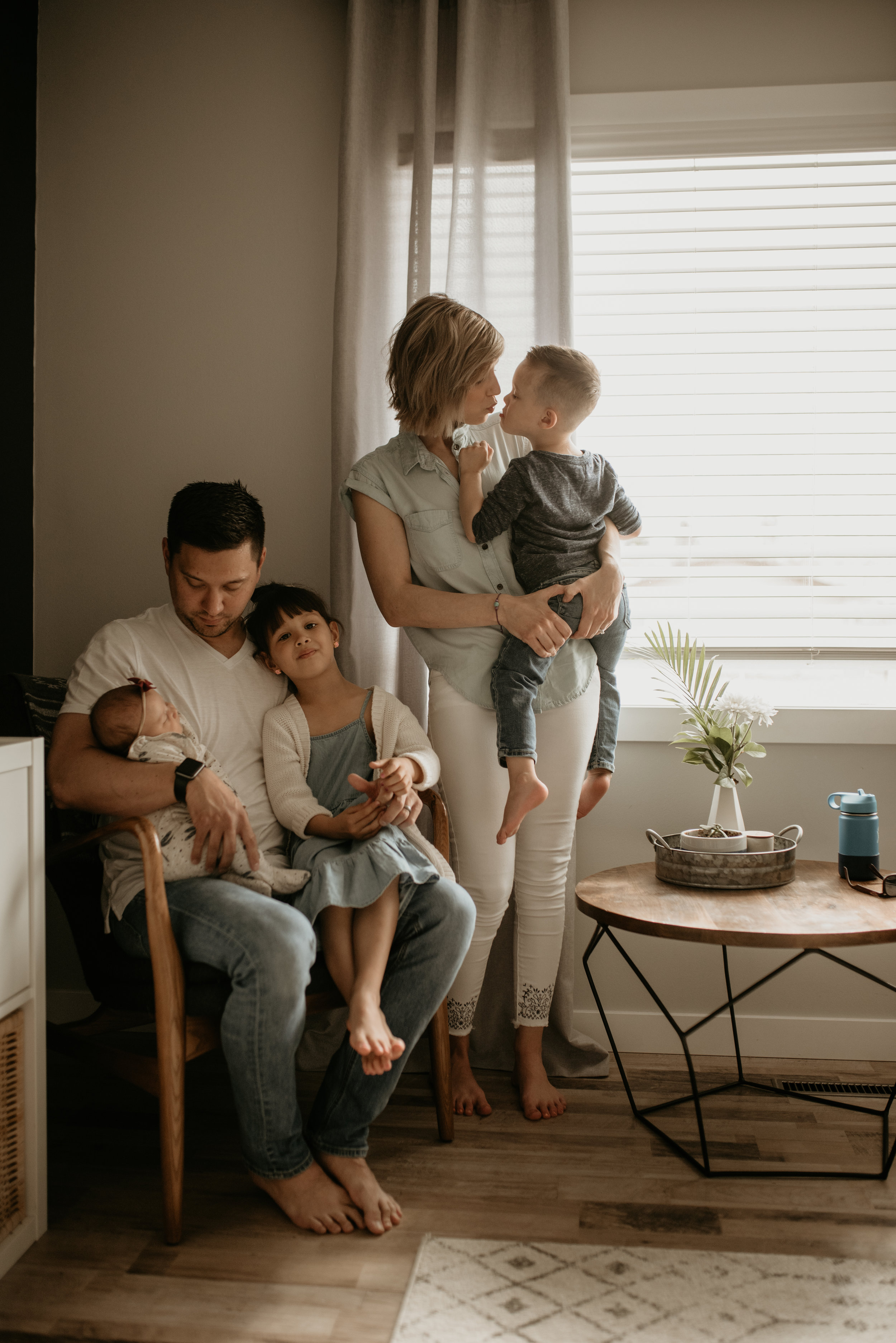 In-home family session, Taber Alberta