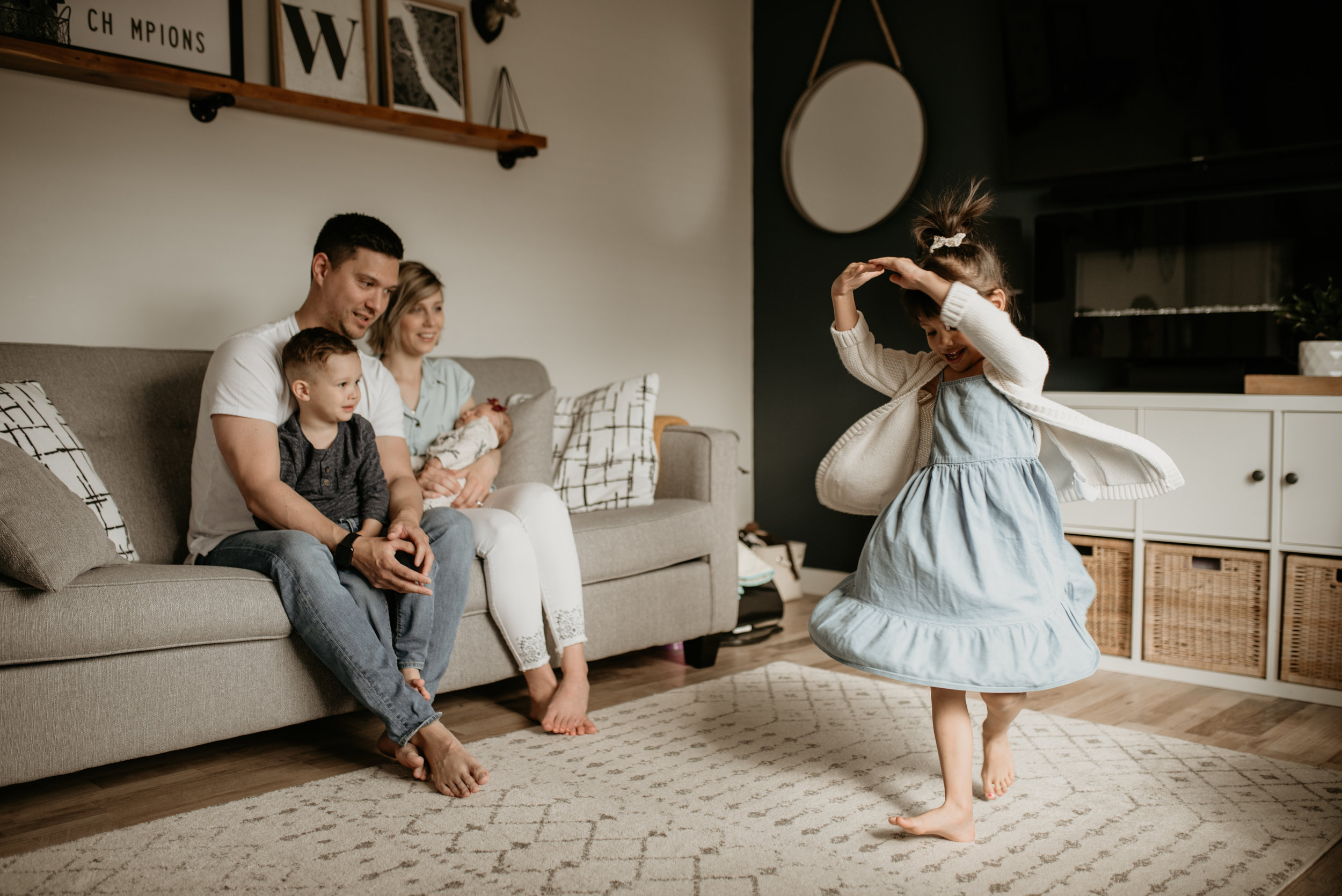In-home family session, Lethbridge Alberta