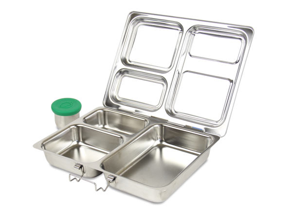 Planetbox    Stainless steel, sleek and simple. We carry the Planetbox Rover, Launch, Shuttle, and most accompanying accessories (Carry bags, magnets, internal containers, cold kits, etc)