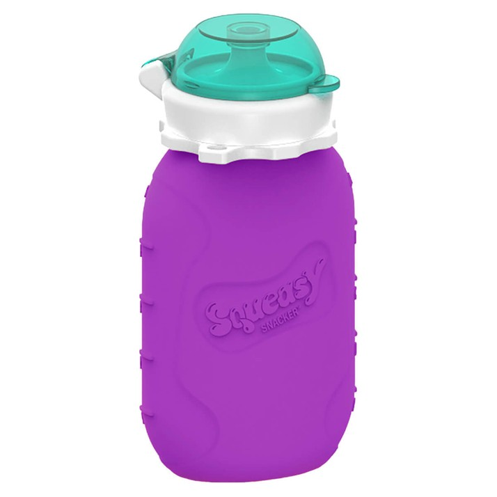 Squeasy    Leakproof, bacteria resistant, dishwasher AND freezer safe, Squeasy can work as a water bottle, smoothie bottle or an easy way to deliver purées. We carry the 3.5oz and 6oz Squeasy Snacker as well as 16oz Squeasy Sport.