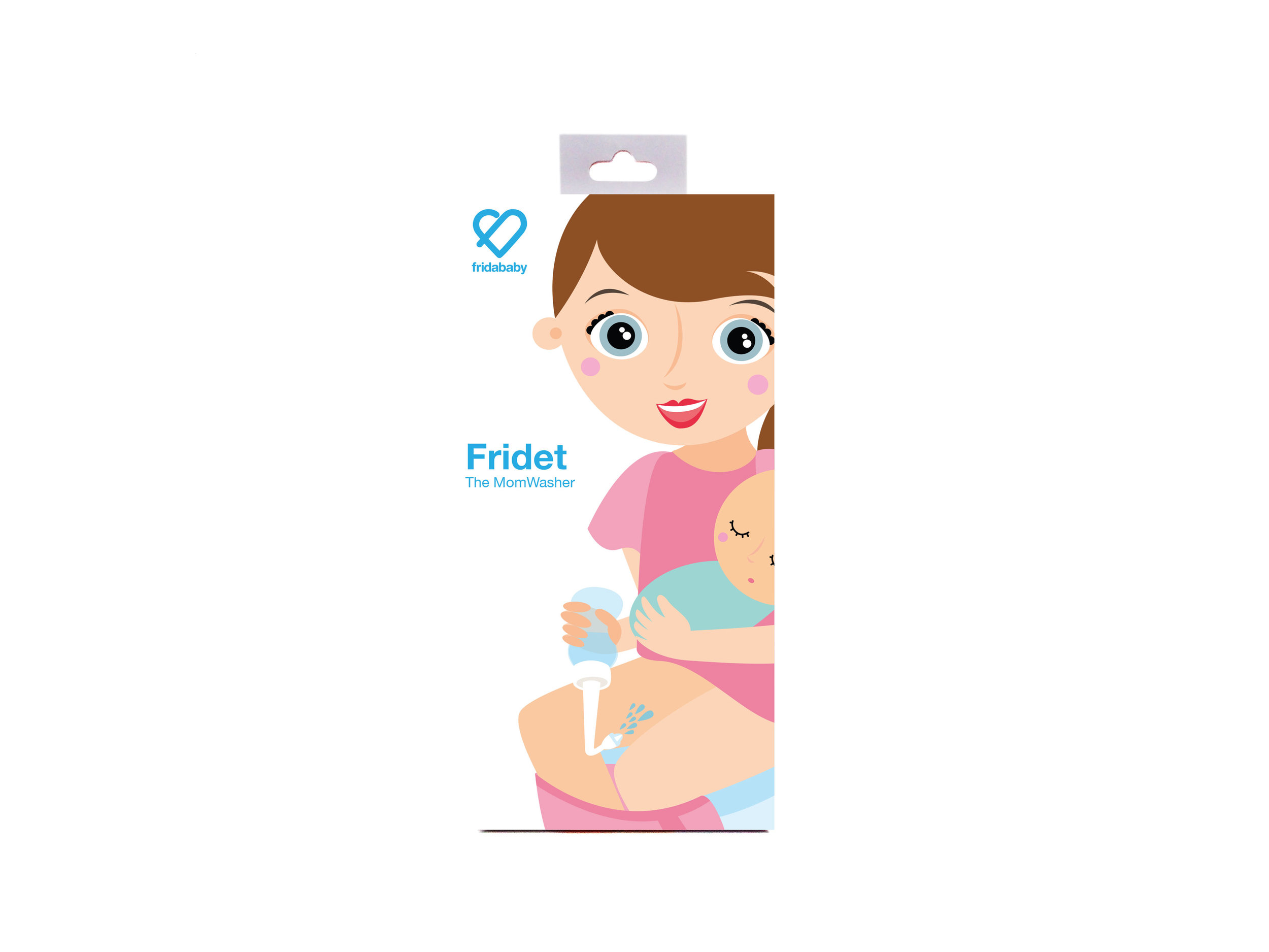 FridaBaby   Simple, portable, a little adorable, Fridet® the MomWasher is perfectly designed with new mom's in mind. It works upside down to make post-delivery healing process cleaner and easier. The bottle can also be filled with perineal healing solutions from All Things Jill and Lauren Mary. We carry the Fridet (and the Nose Frieda in our Cold and Flu section).