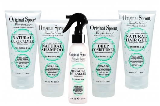 🍁  Original Sprout    Original Sprout began as the brainchild of master hair stylist Inga Tritt. The brand marries the style and luxury she was accustomed to with the concerns and responsibilities she had as a mother. We carry the Original Sprout Hair & Body Wash, Natural Shampoo, Deep Conditioner, Leave-in Conditioner, Scrumptious Baby Cream, Natural Styling Balm, Natural Curl Balm, and miracle Detangler.